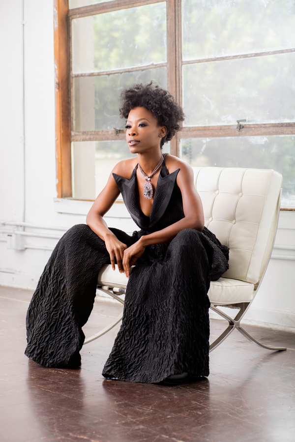 Photo by Nate Taylor: VERDAD jumpsuit; SEQUOIA SKY necklace. Styling: Tracie May-Wagner.