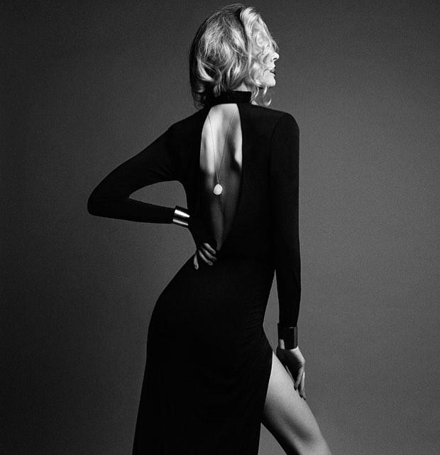 A Heaven Has Heels' favorite from our #Bombshell editorial. Photography @alanatylerslutsky Stylist @jocelynecorreia Makeup @jaleesajaikaran Hair @seldacortes. Wearing @charles_dieujuste dress, @lasoulajewelry necklace and @slightjewelry cuff.