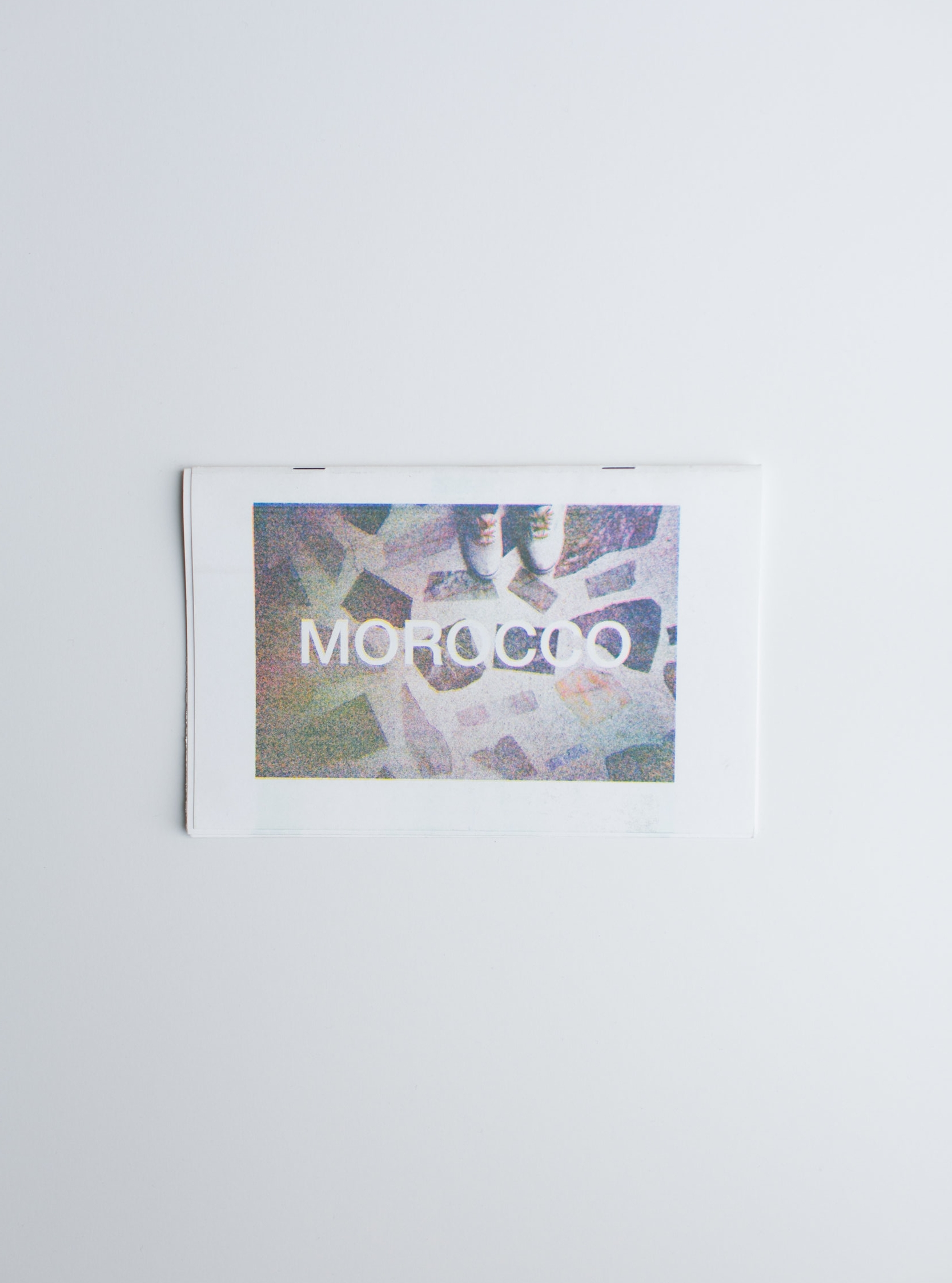 """Morocco Photo Zine Printed on Risograph 8.5"""" x 5.5"""", 10 pages"""