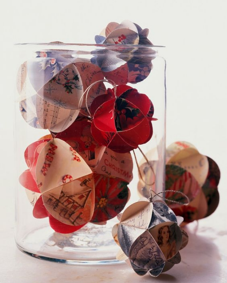 10 Ways to Reduce Waste This Holiday Season - Recycled Ornaments