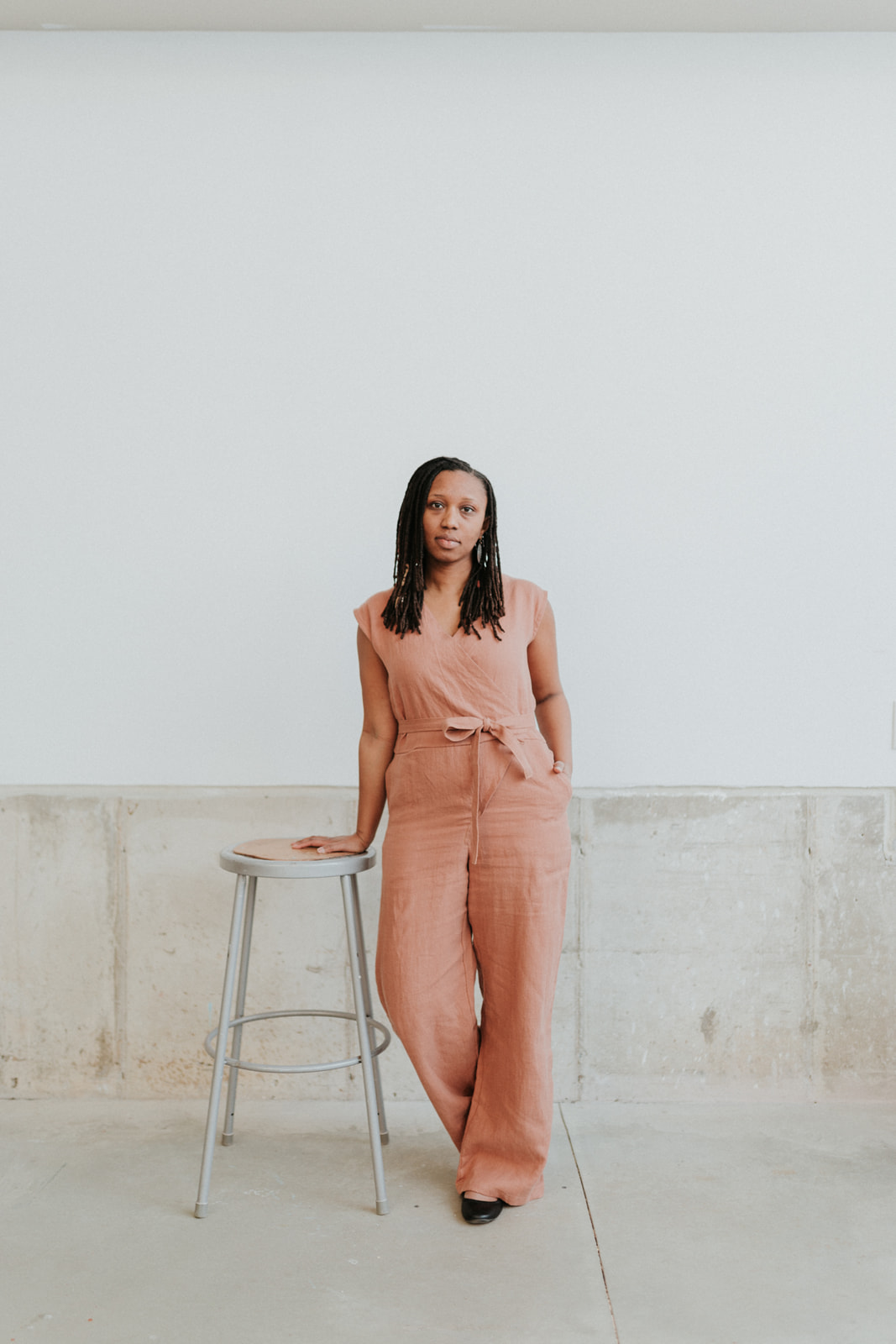 Wrap Jumpsuit - Clay