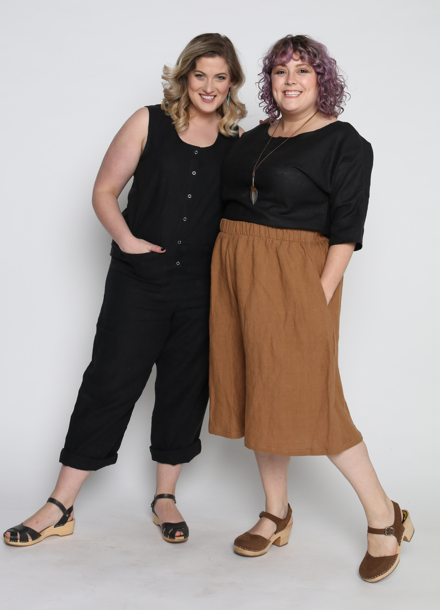 Surplus Jumpsuit  in Black +  Chloe Top  in Black +  Corsica Culottes  in Ginger