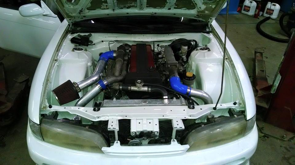 The 1JZ Zenki S14 - …this car came to us swapped already. We took care of all the wring, and tub work. A car that is daily driven with working a/c in the great state of Florida.
