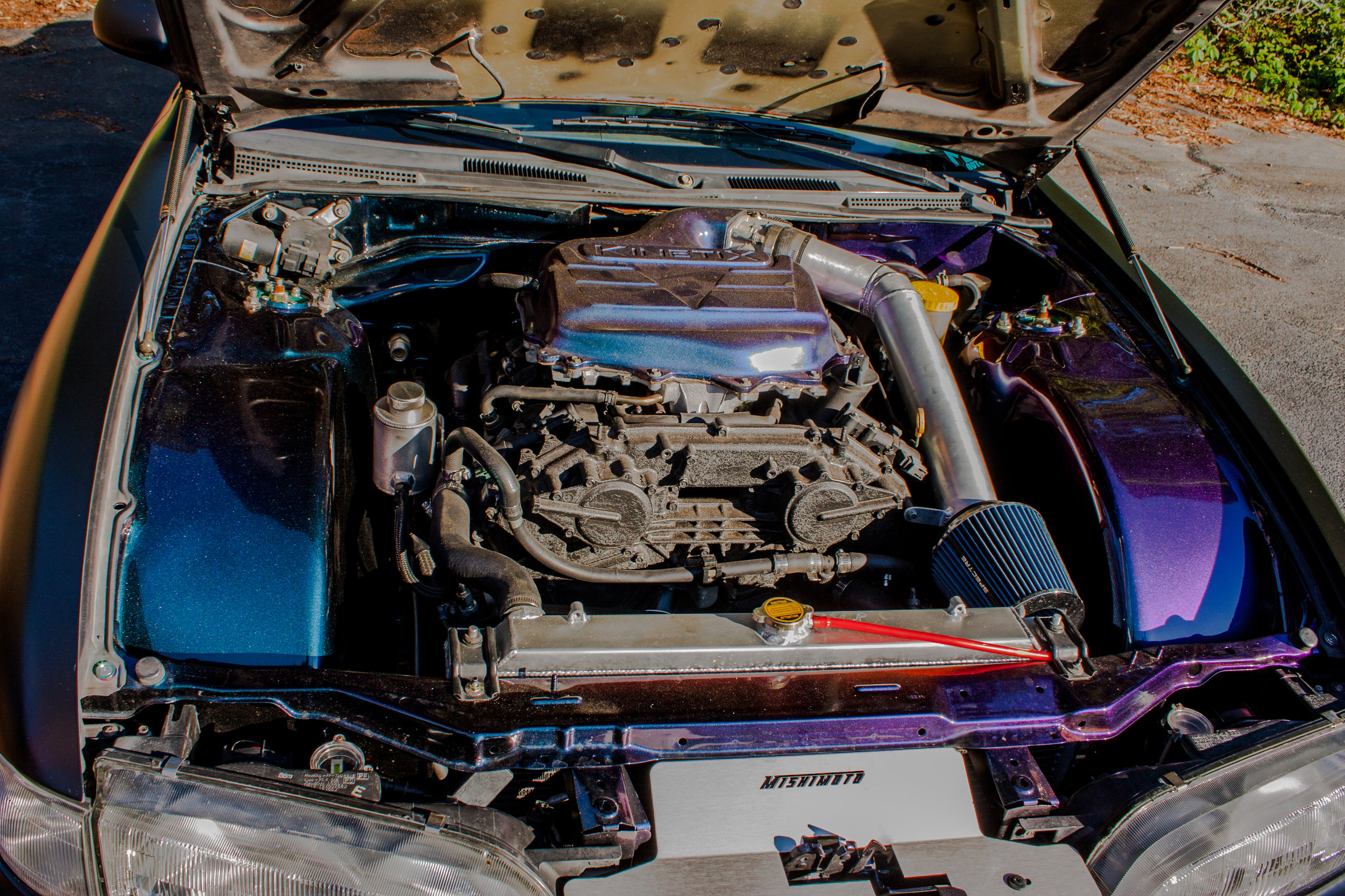 VQ Swapped 94 240SX - …one of the first completed cars that rolled out of our shop doors, this VQ swapped S14 drove thousands of miles, hitting many car shows on the south east coast, and up to Virginia.