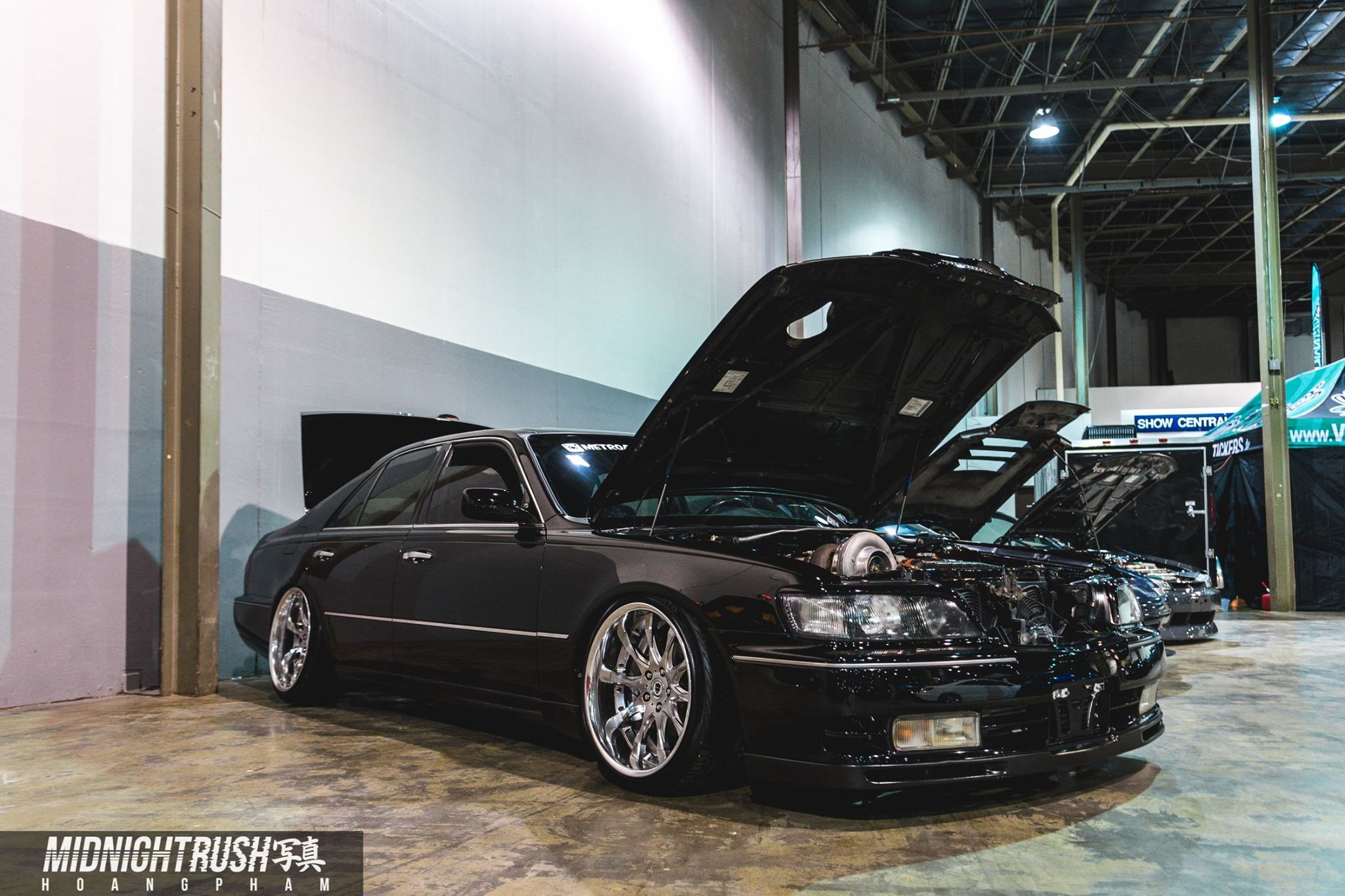 The LQ9 S480 Q45 - …talk about a mouth full. Inside this 1997 Infiniti Q45, we stuffed a 6.0 liter Chevy and strapped on a Borg Warner S480. We have not seen another one this cleanly done before. #humblebragandproud
