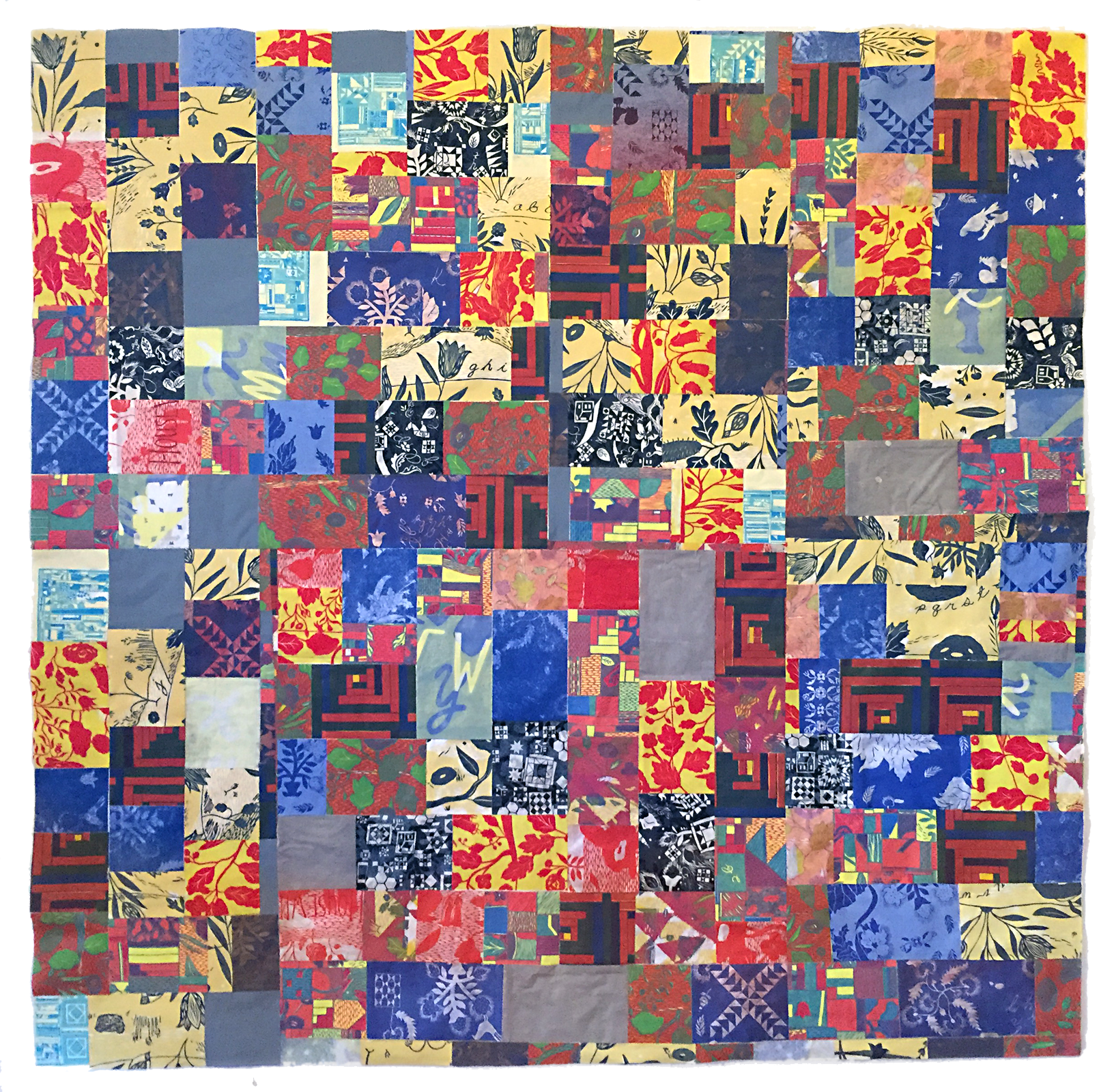 Katy G Collier,  Not superimposed, not fiction , Paper quilt, woodcut, monotype, and collage, 2018