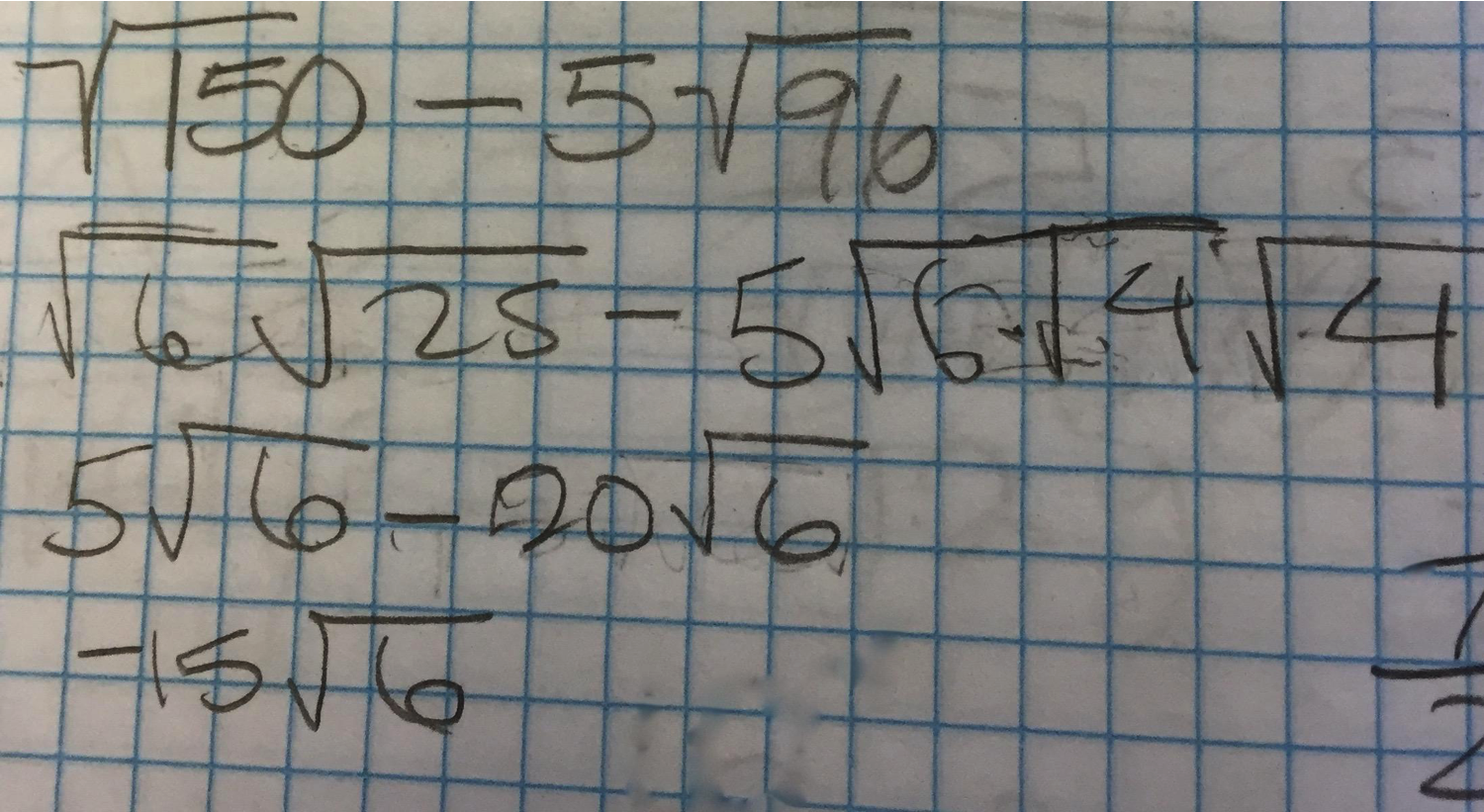Subtraction with Radicals