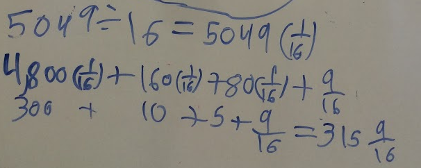 Applying Definition of Division, Substitution and Distribution