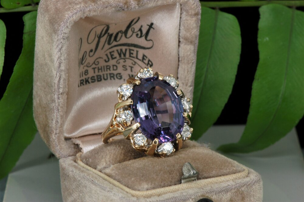Vintage Synthetic Color Change Sapphire