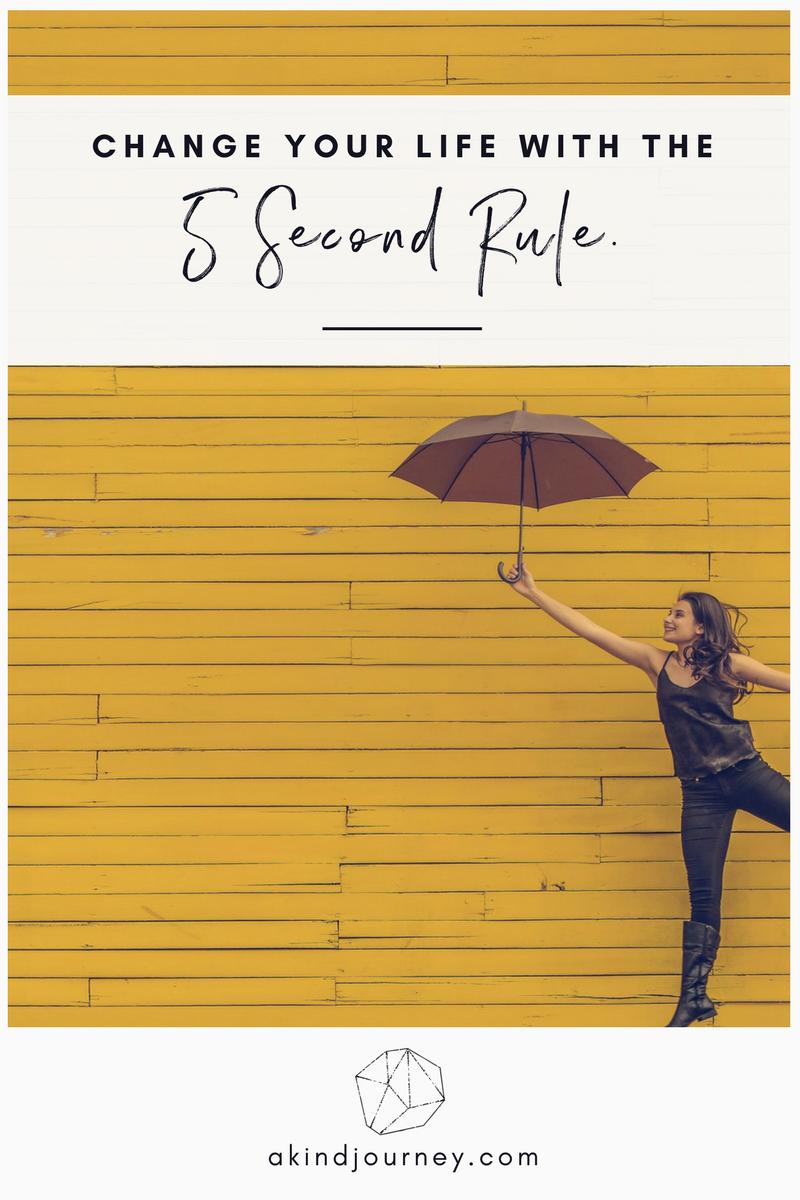 The 5 Second Rule | akindjourney.com #TheKindBrands