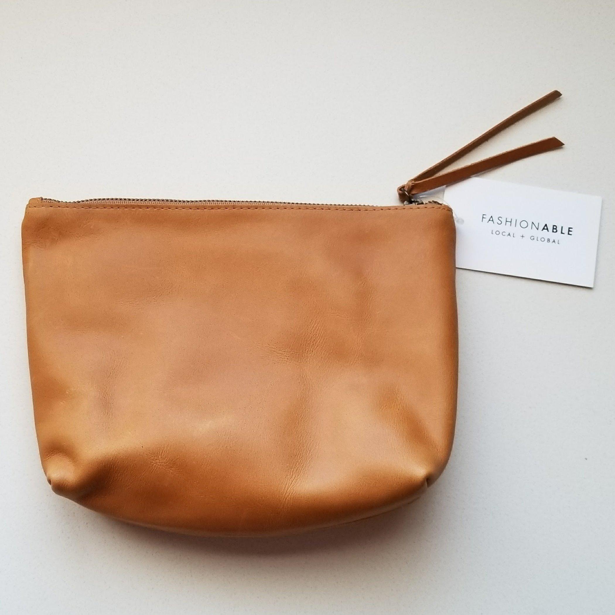 Emnet Pouch in Cognac | akindboutique.com #TheKindBrands | Fair Trade Leather Bag