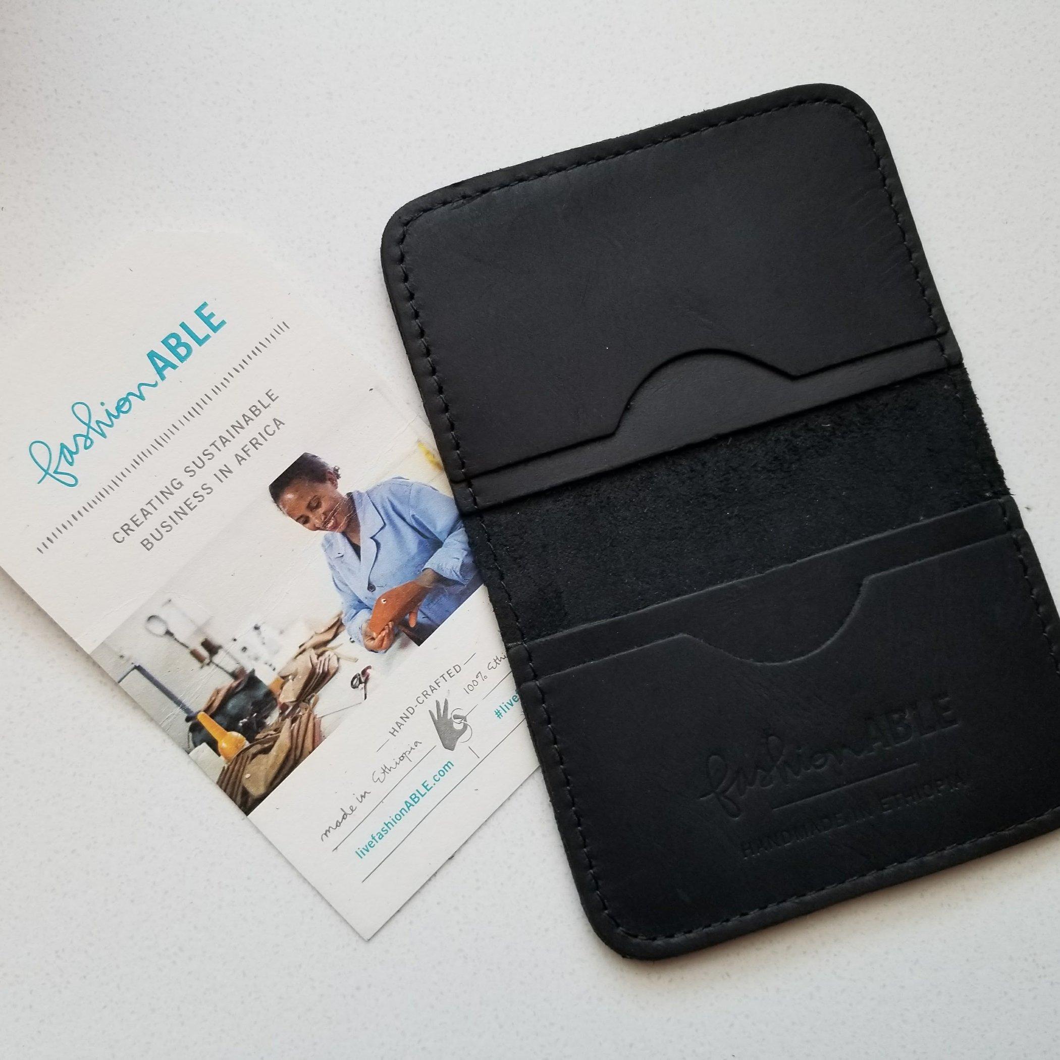 Fair Trade Kalkidan Wallet in Black | Kind Gift Guide For Him akindjourney.com