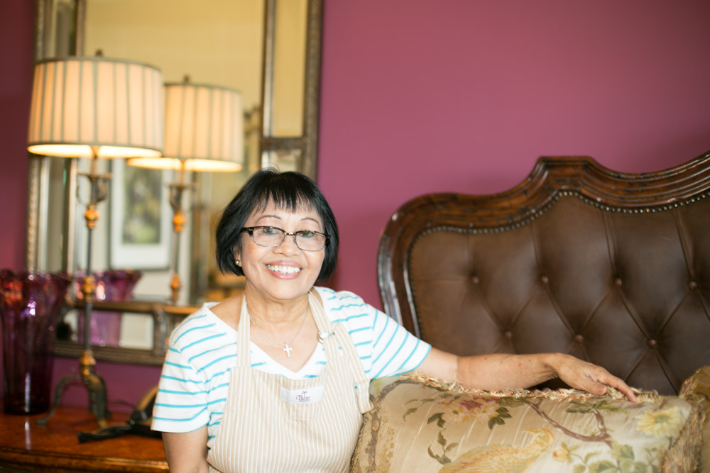 Lilia F. one of our exceptional Estate Housekeepers