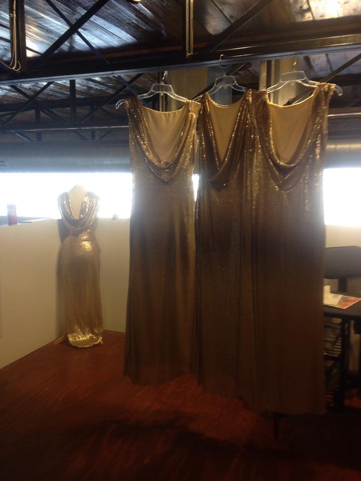 andrea fenise sequin bridesmaid dresses
