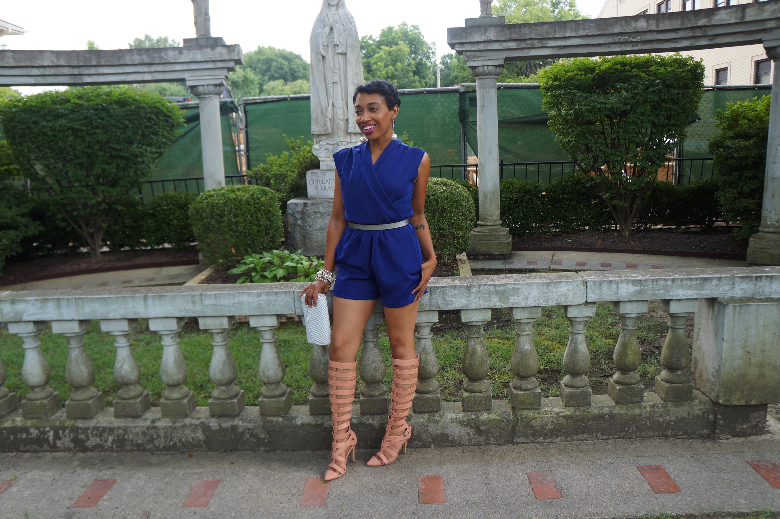Andrea Fenise Memphis Fashion Blogger turns a room into a wardrobe