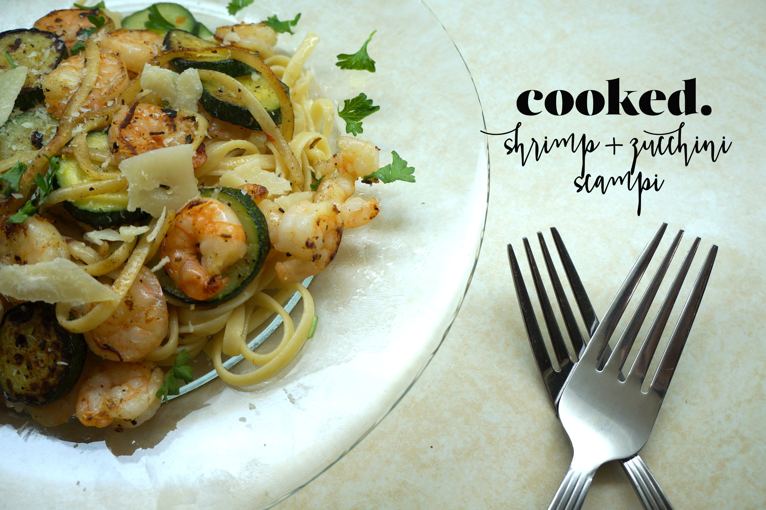 Andrea Fenise Memphis Fashion and Food Blogger Shrimp and Zucchini Scampi
