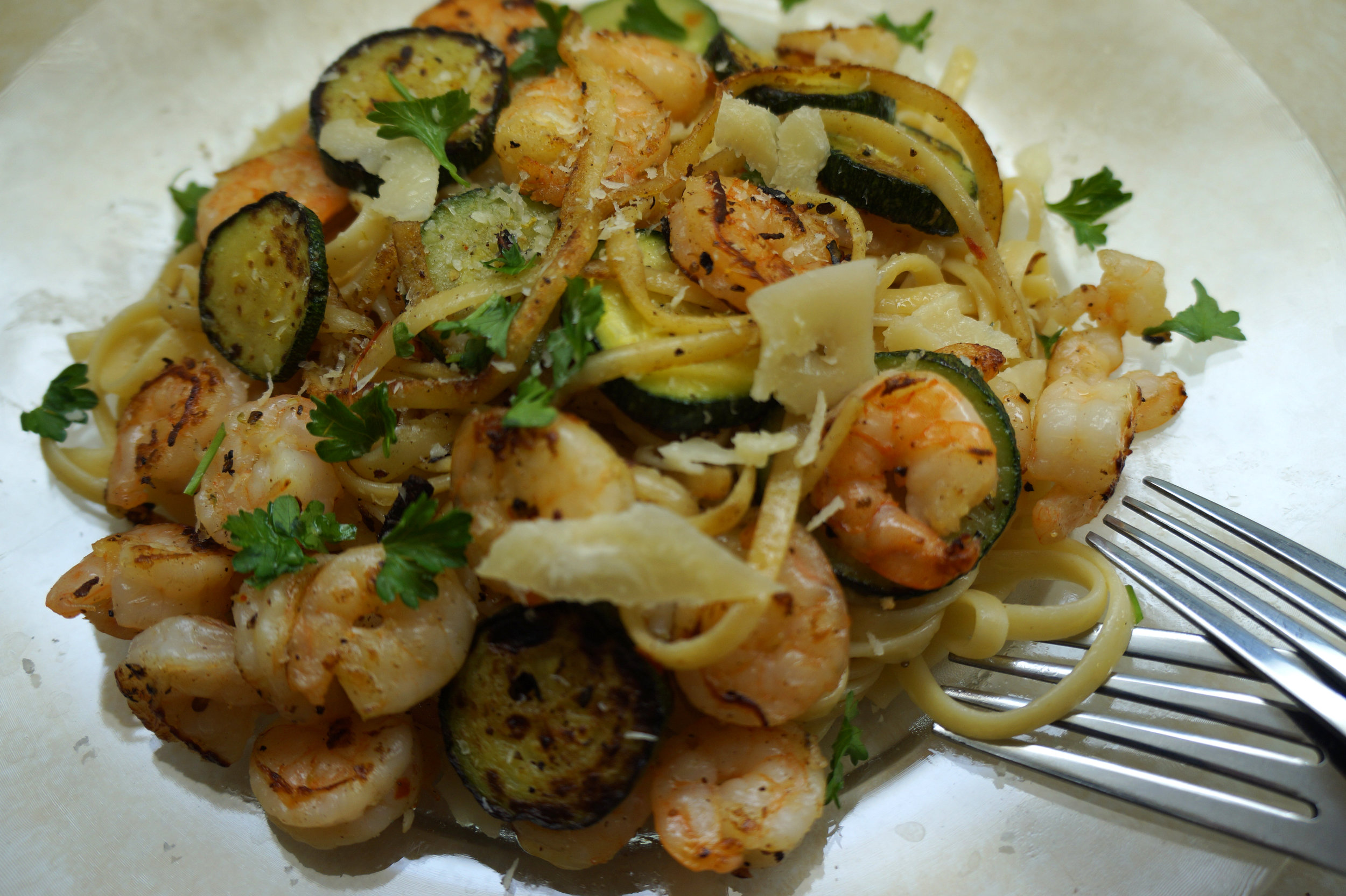 Andrea Fenise Memphis Food Blooger Shrimp and Zucchini Scampi