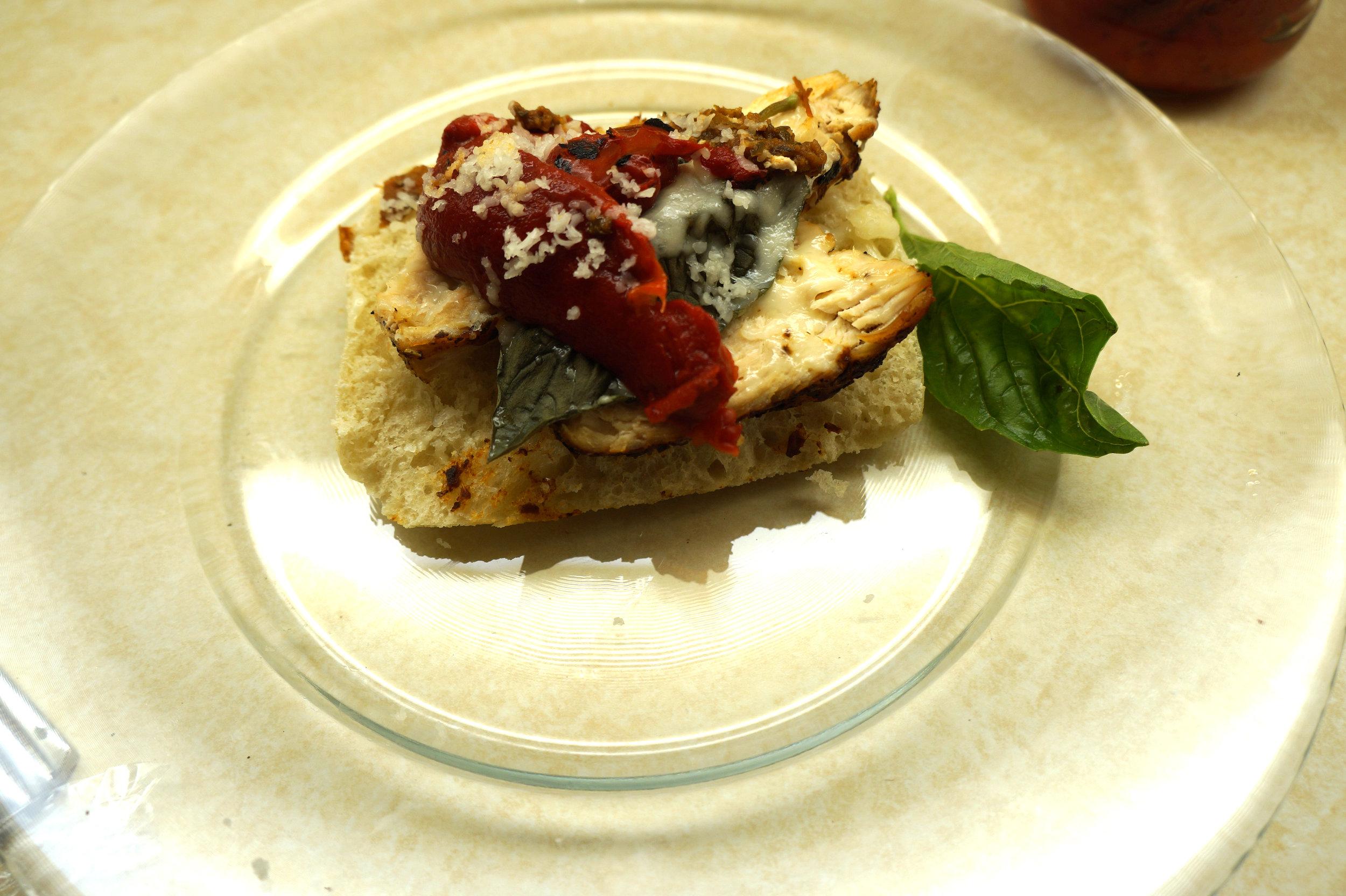 Andrea Fenise shares Italian Chicken on Ciabatta Roll Recipe