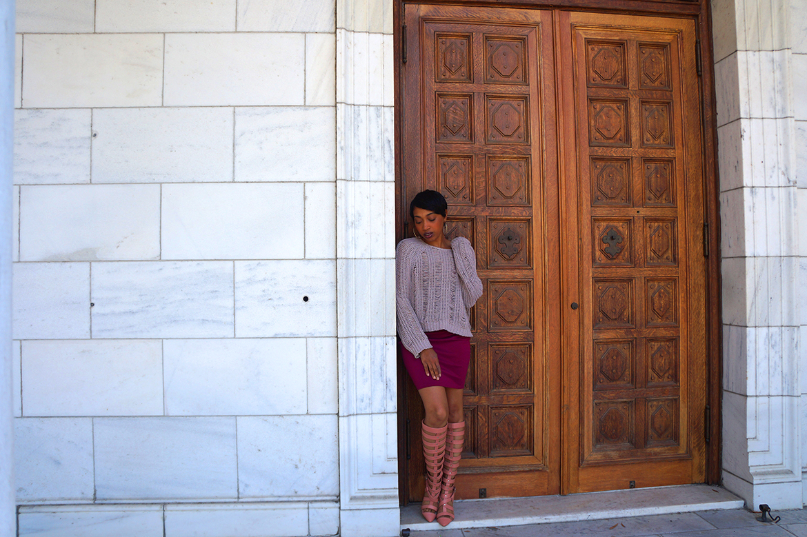 Andrea Fenise styling transitional pieces
