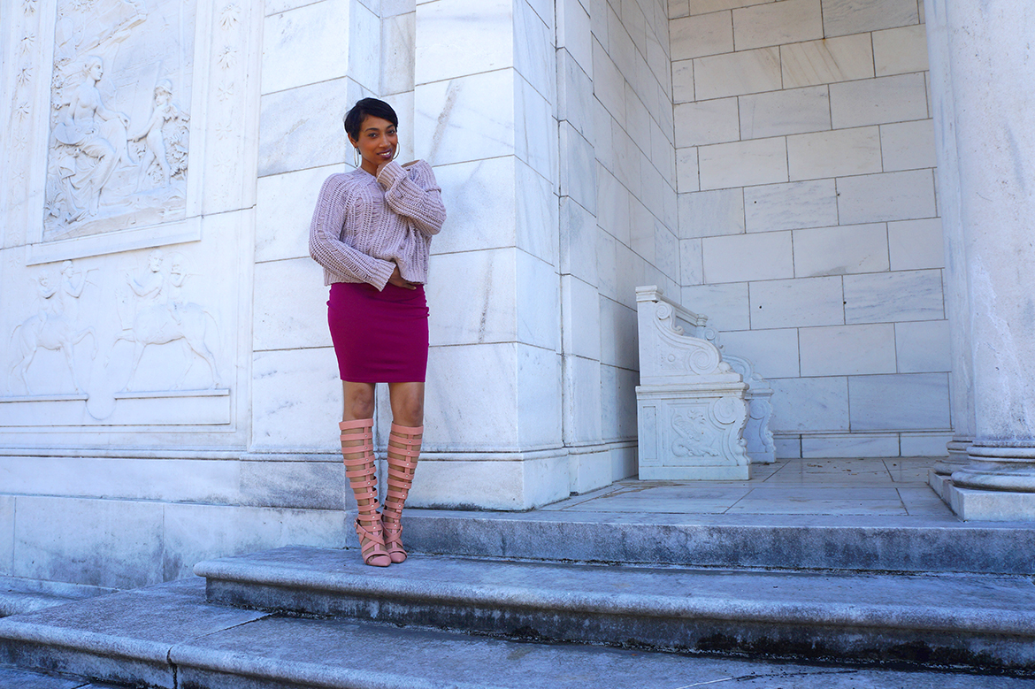 Andrea Fenise styling transitional pieces for fall