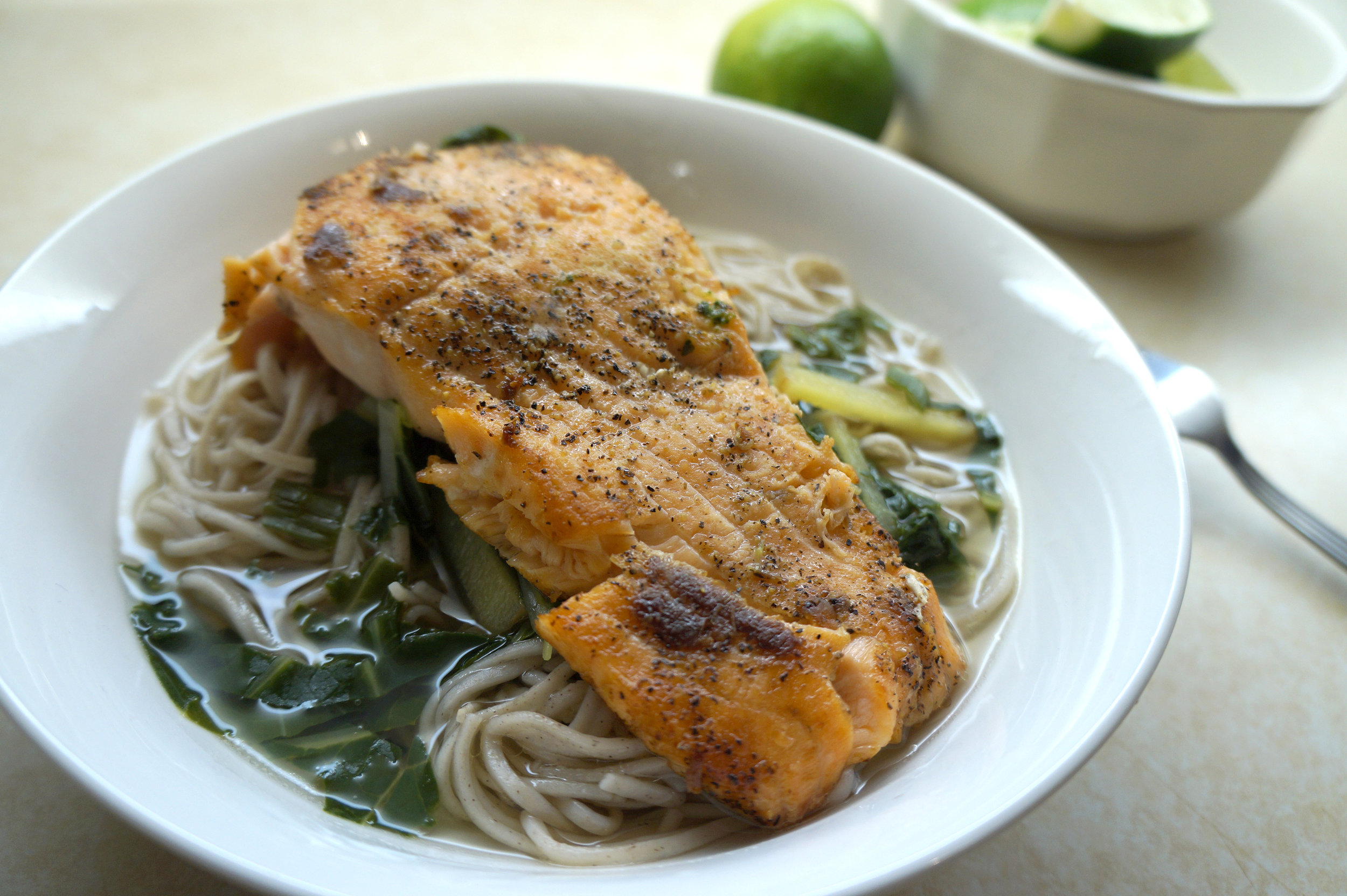 Andrea Fenise shares Japanese Ginger Broth and Salmon