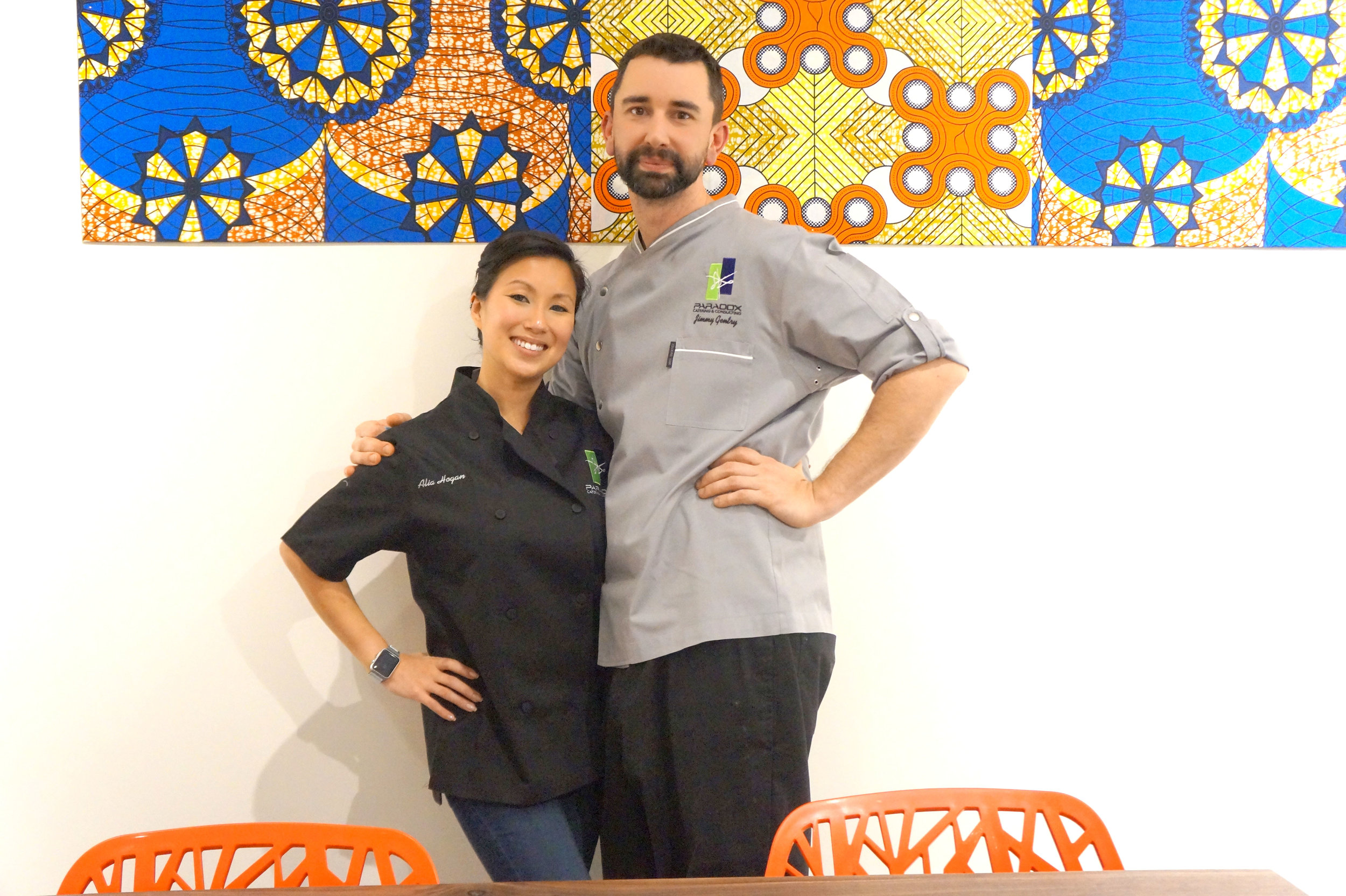 Andrea Fenise, Memphis Food Blooger, interviews Chef Jimmy Gentry and owner Alia Hogan of Cafe Brooks by Paradox at Brooks Museum