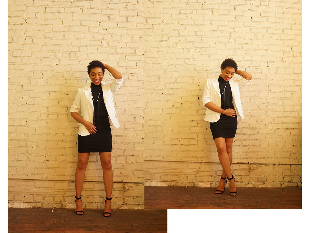 Andrea Fenise Memphis Fashion Bloggers styles a white blazer look three ways