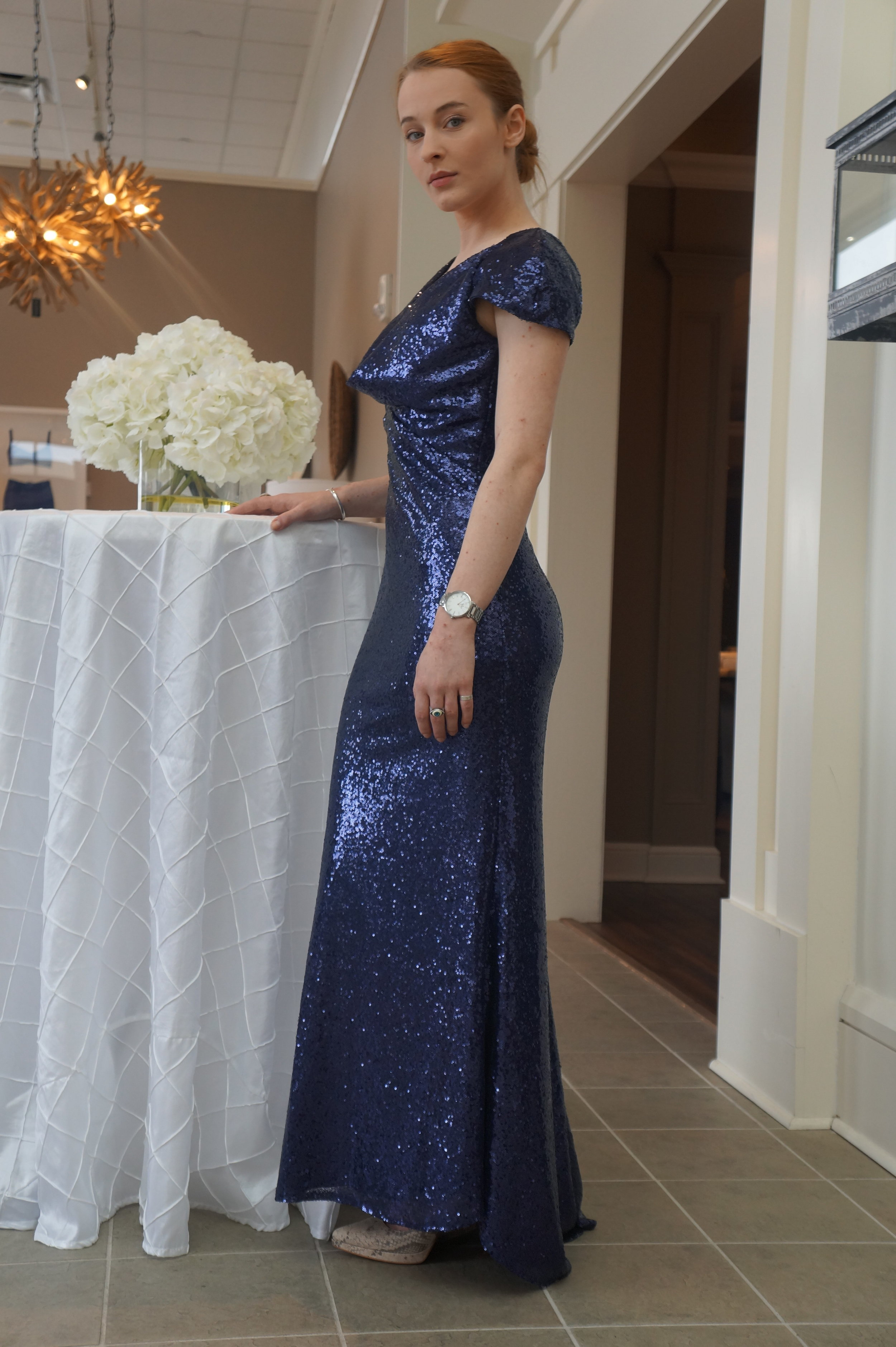 Andrea Fenise Memphis Fashion Blogger does a soft launch of Proposed Bridal at the Ethan Allen Bridal Show