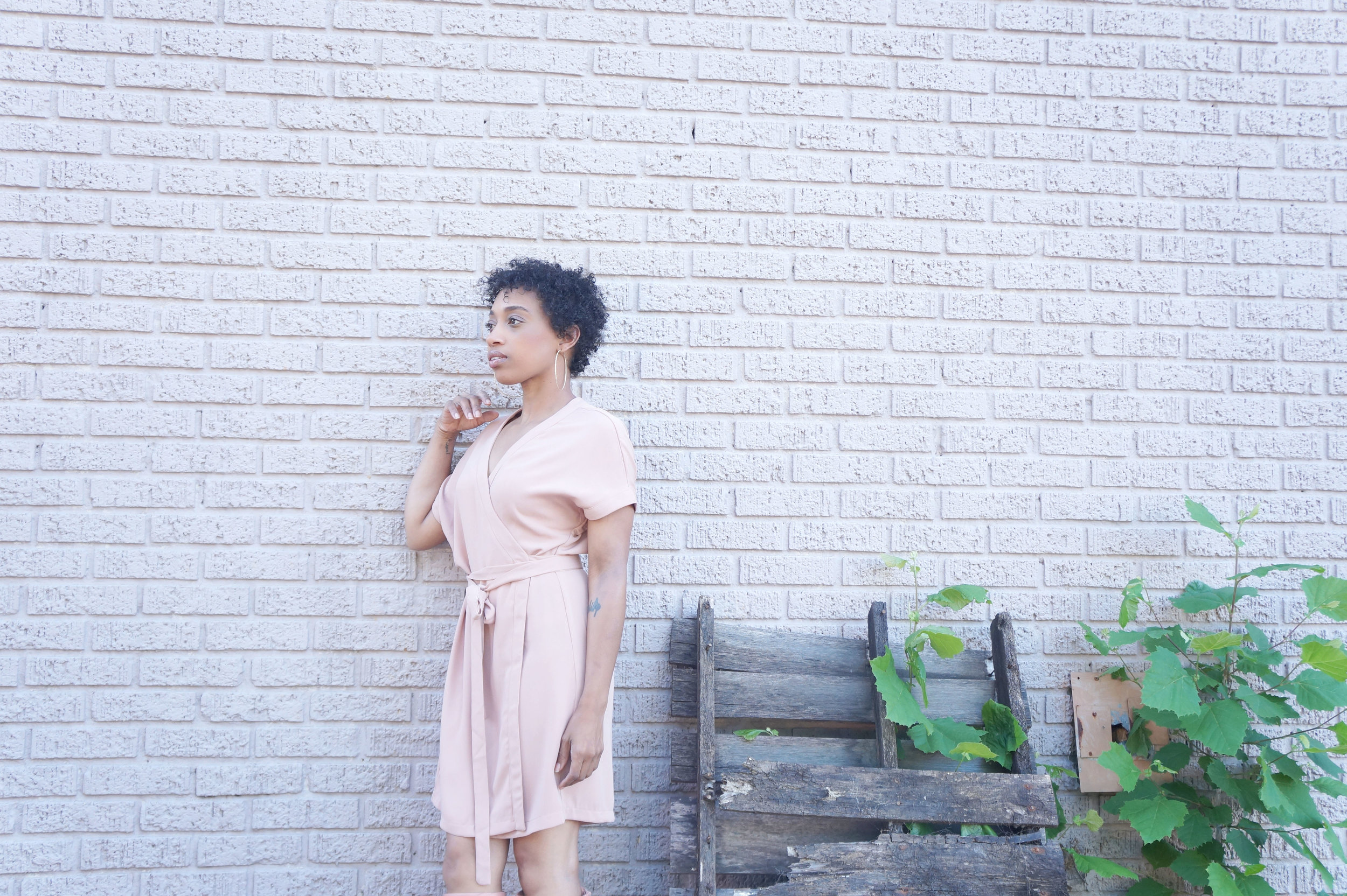 Andrea Fenise Memphis Fashion Blogger styles a dress by Tobi