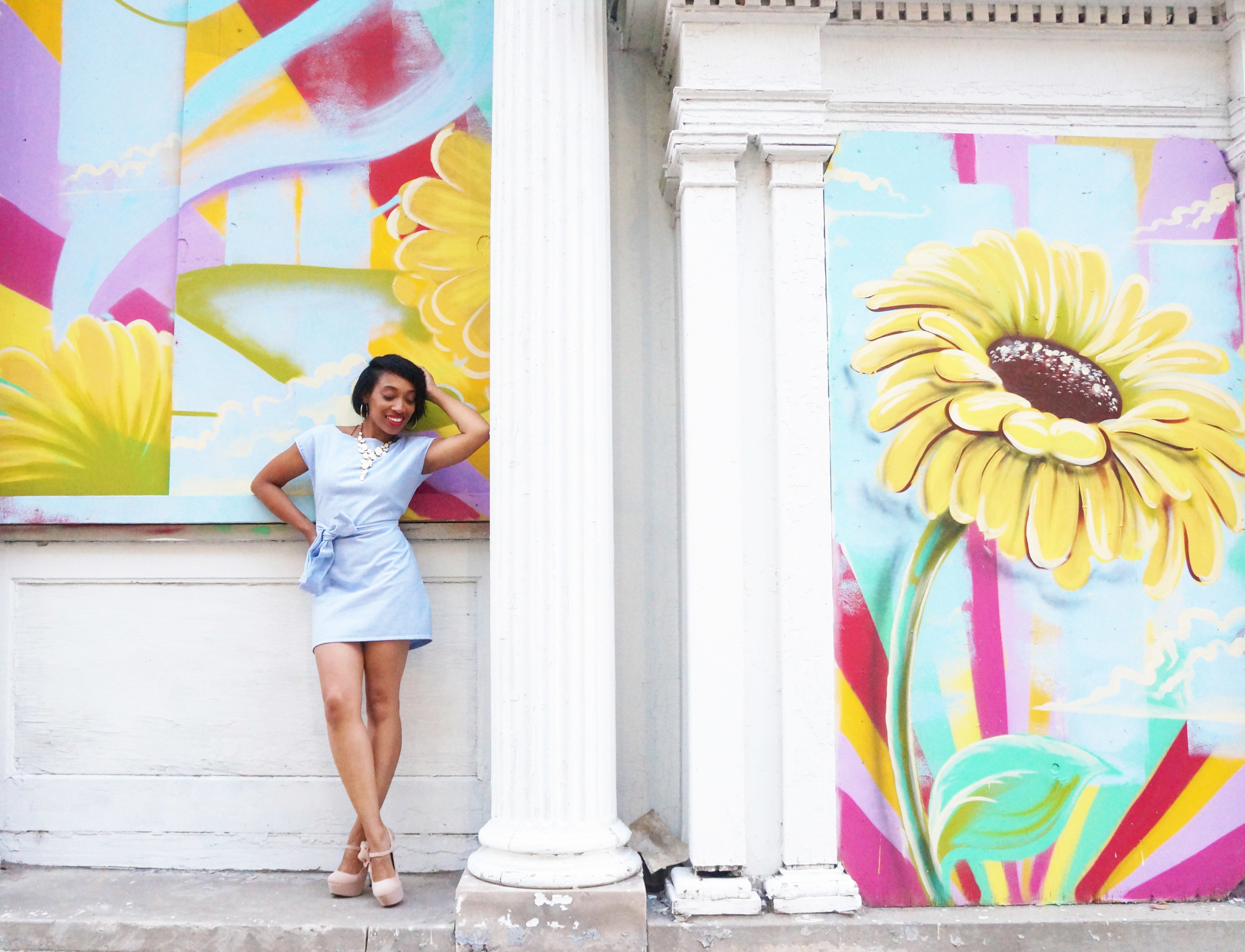 Andrea Fenise Memphis Fashion Blogger denim tunic