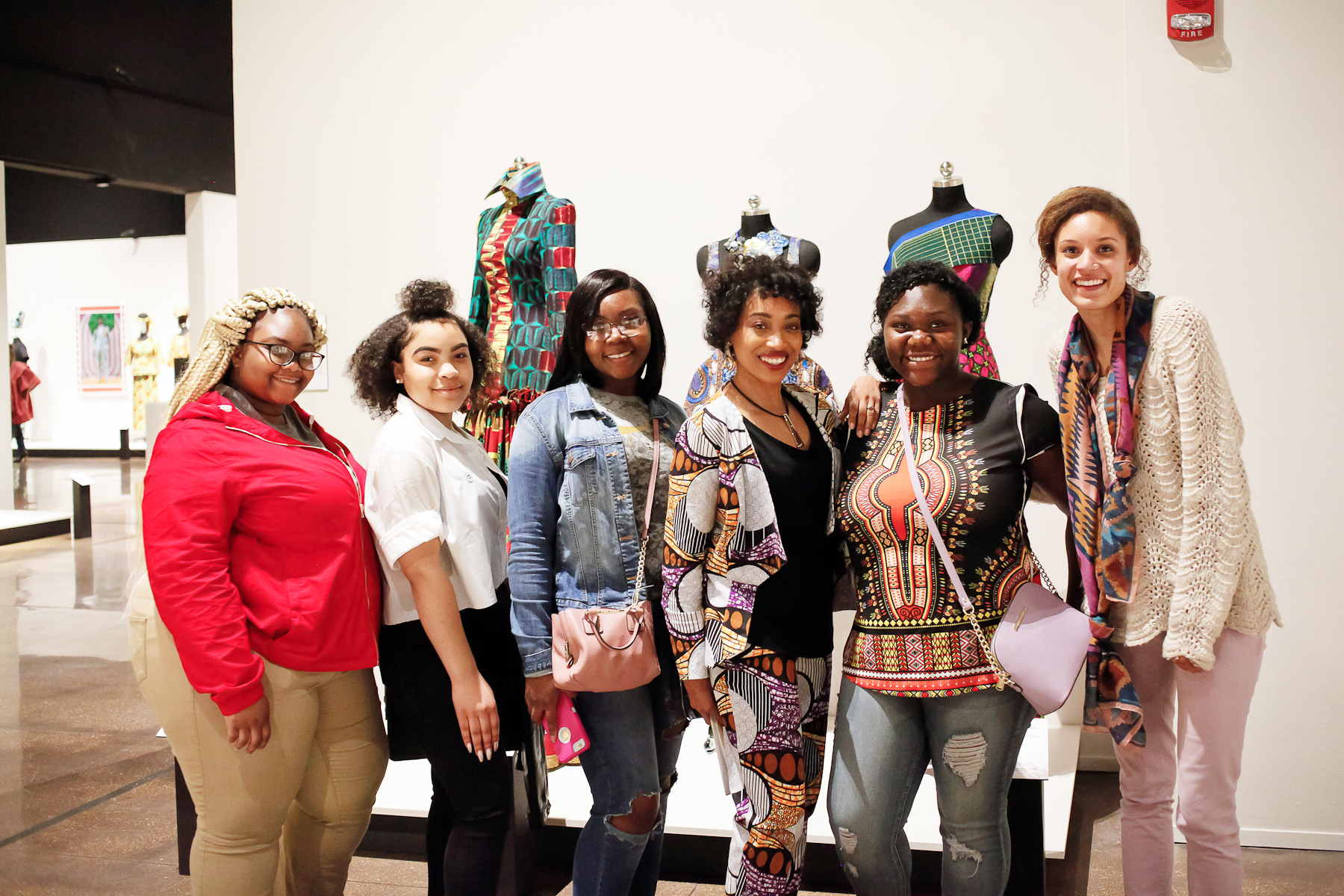Andrea Fenise Memphis Fashion Blogger hosts Tour of African Print Fashion Now at Brooks Museum of Art