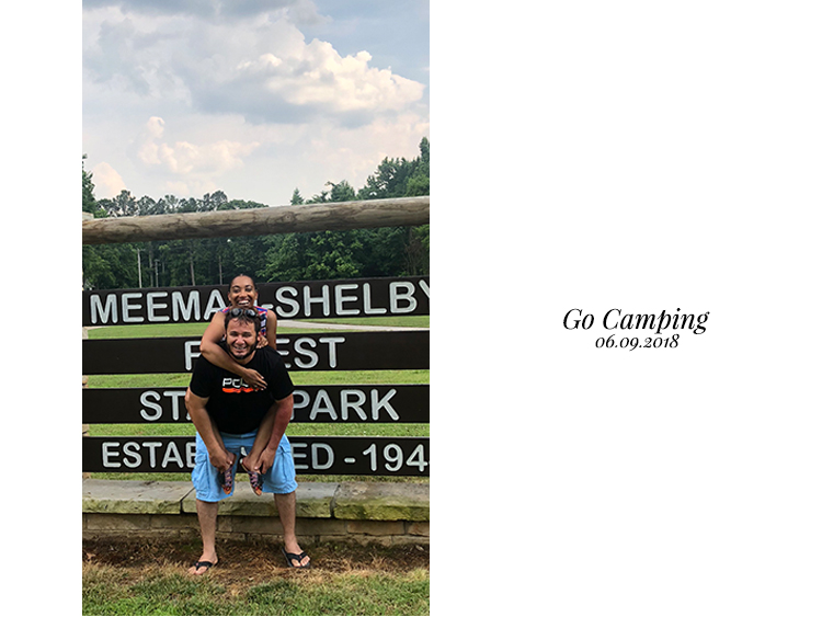 Andrea Fenise Memphis Fashion Blogger accomplishes #40before40 Go Camping Goal