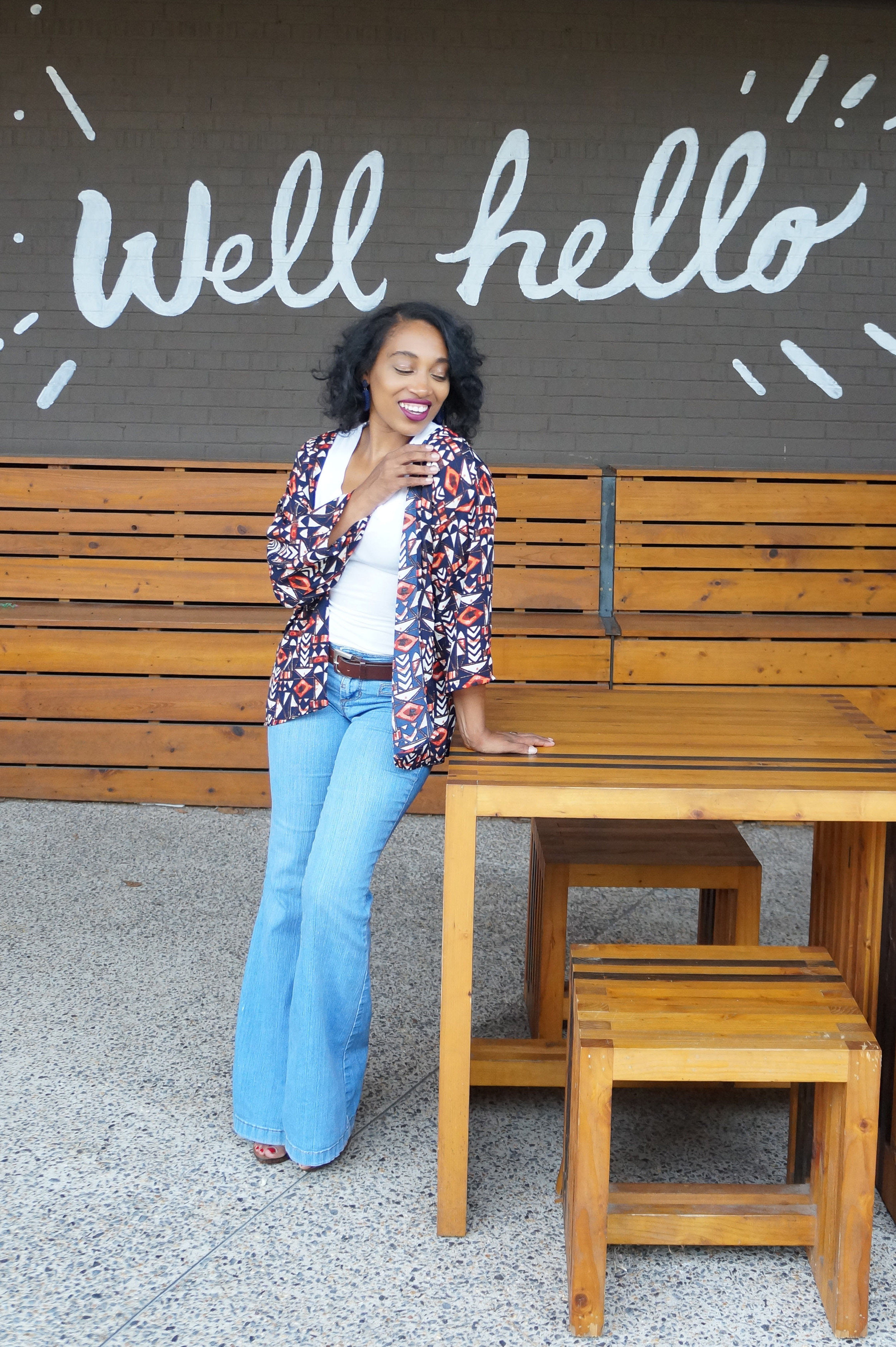 Andrea Fenise Memphis Fashion Blogger shares how to dress for transitional weather with kimonos Memphis Fashion Bloggers