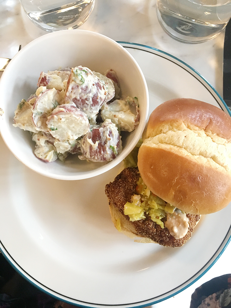 Andrea Fenise Memphis Fashion Blogger and Memphis Food Blogger shares lunch at The Diner at Hu Hotel