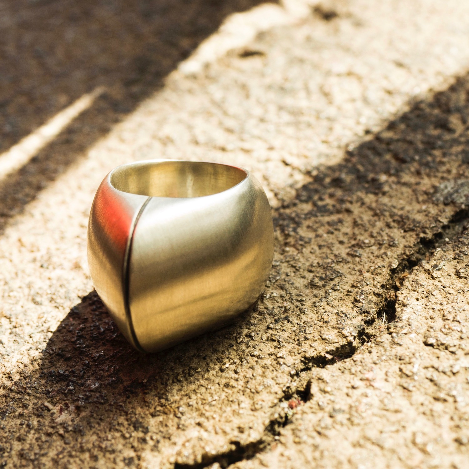 Dome Ring - Sterling Silver/Patina