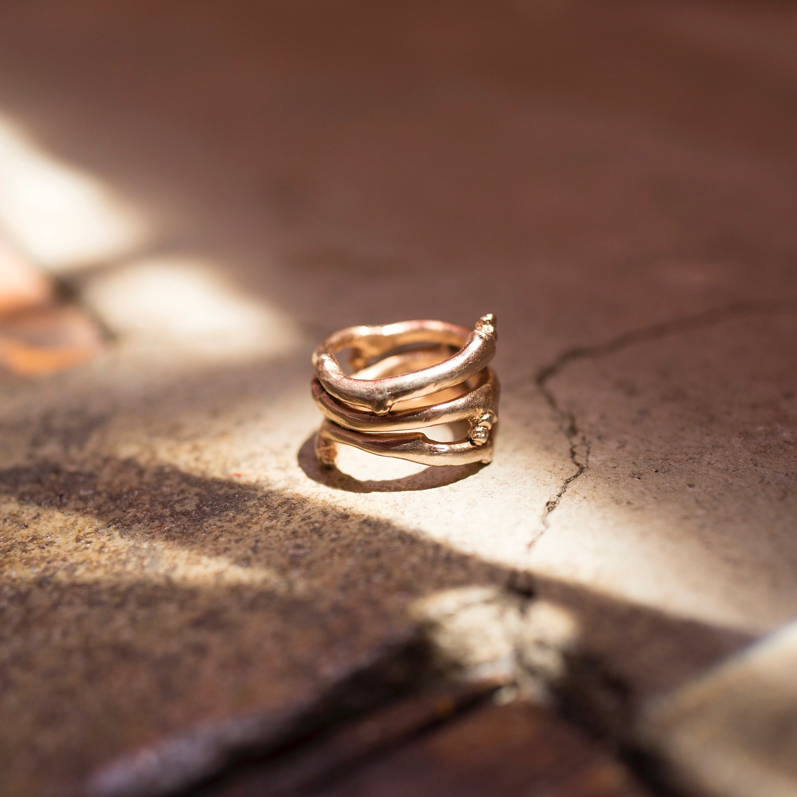 Romulus Ring - Pink Gold Vermeer