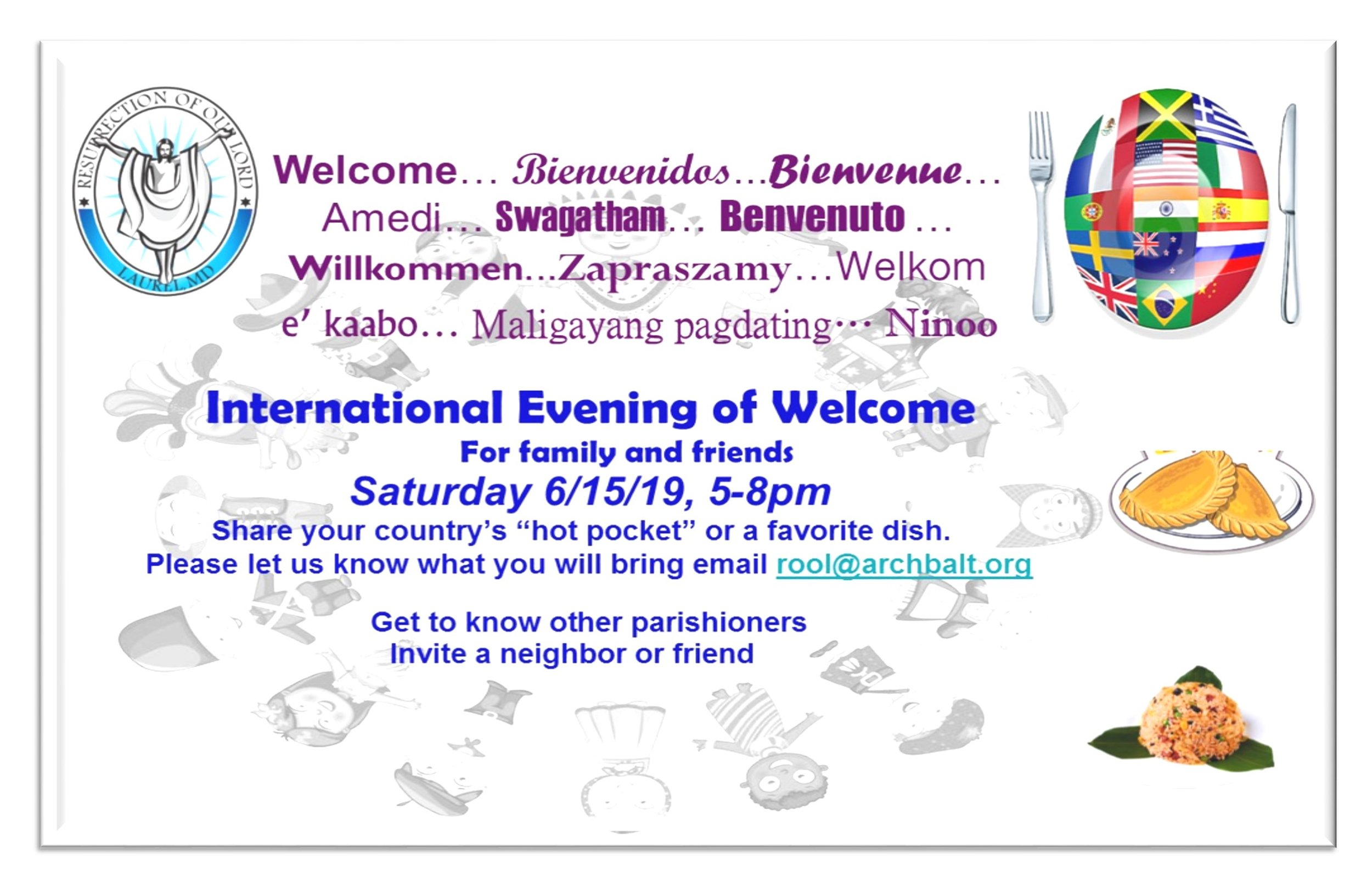 2nd Annual International Evening of Welcome!