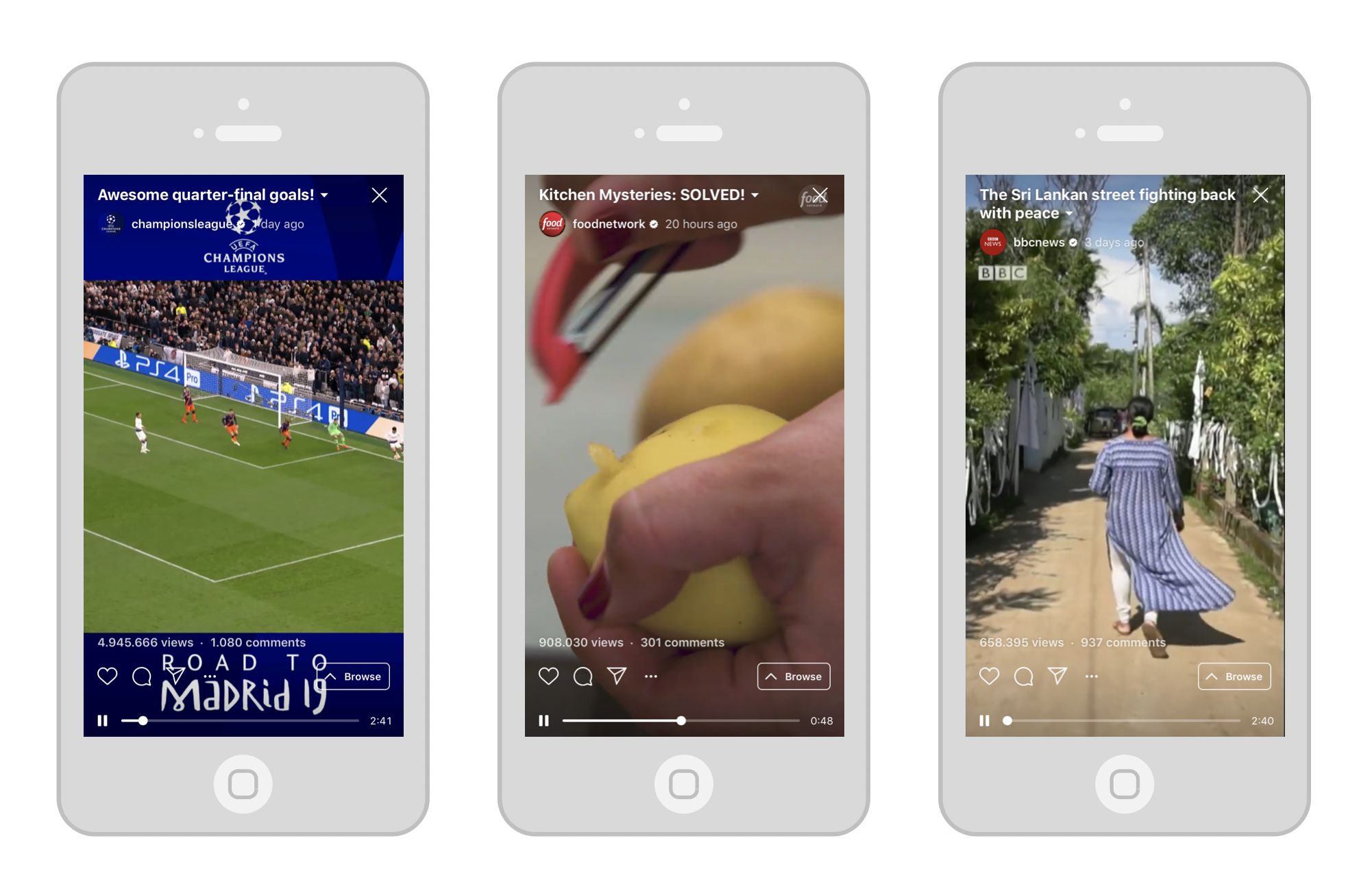 Some examples of international brands with a fully-fledged Instagram TV strategy.