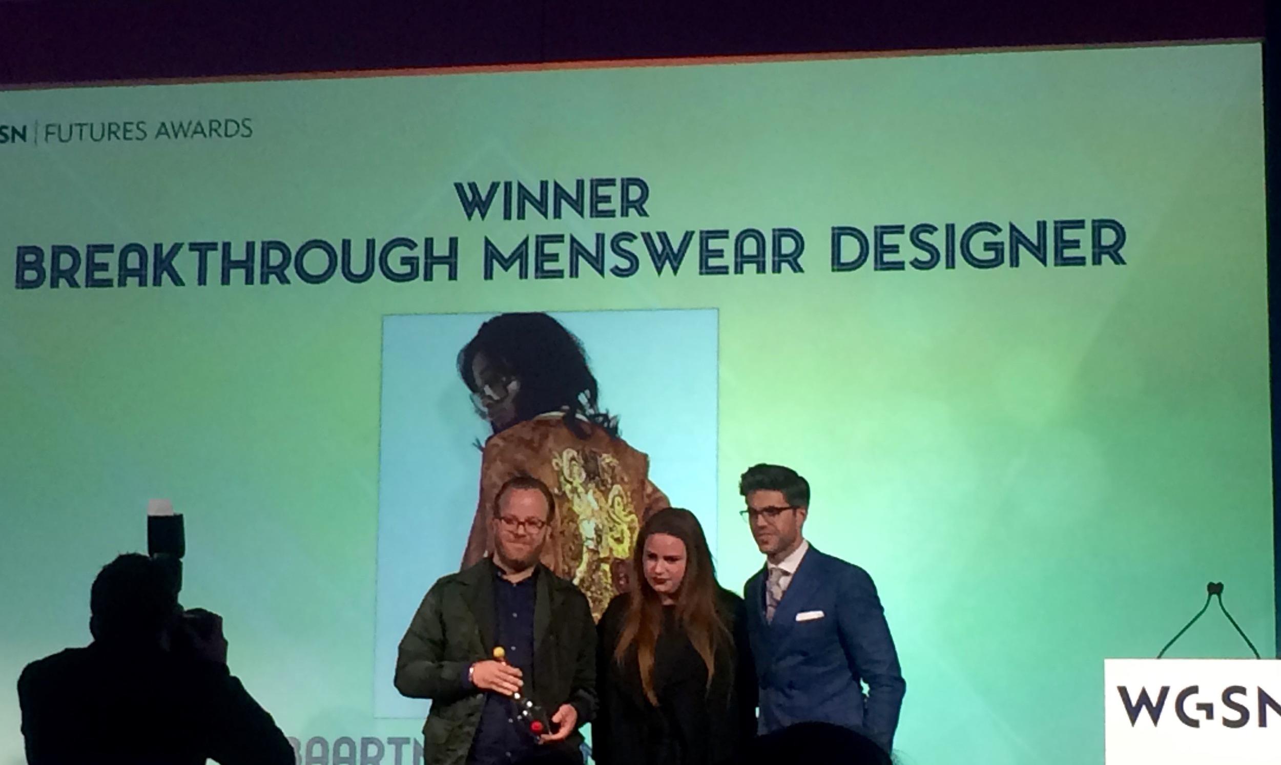 One of my favourite menswear designers Baartmans and Siegel WGSN Winner