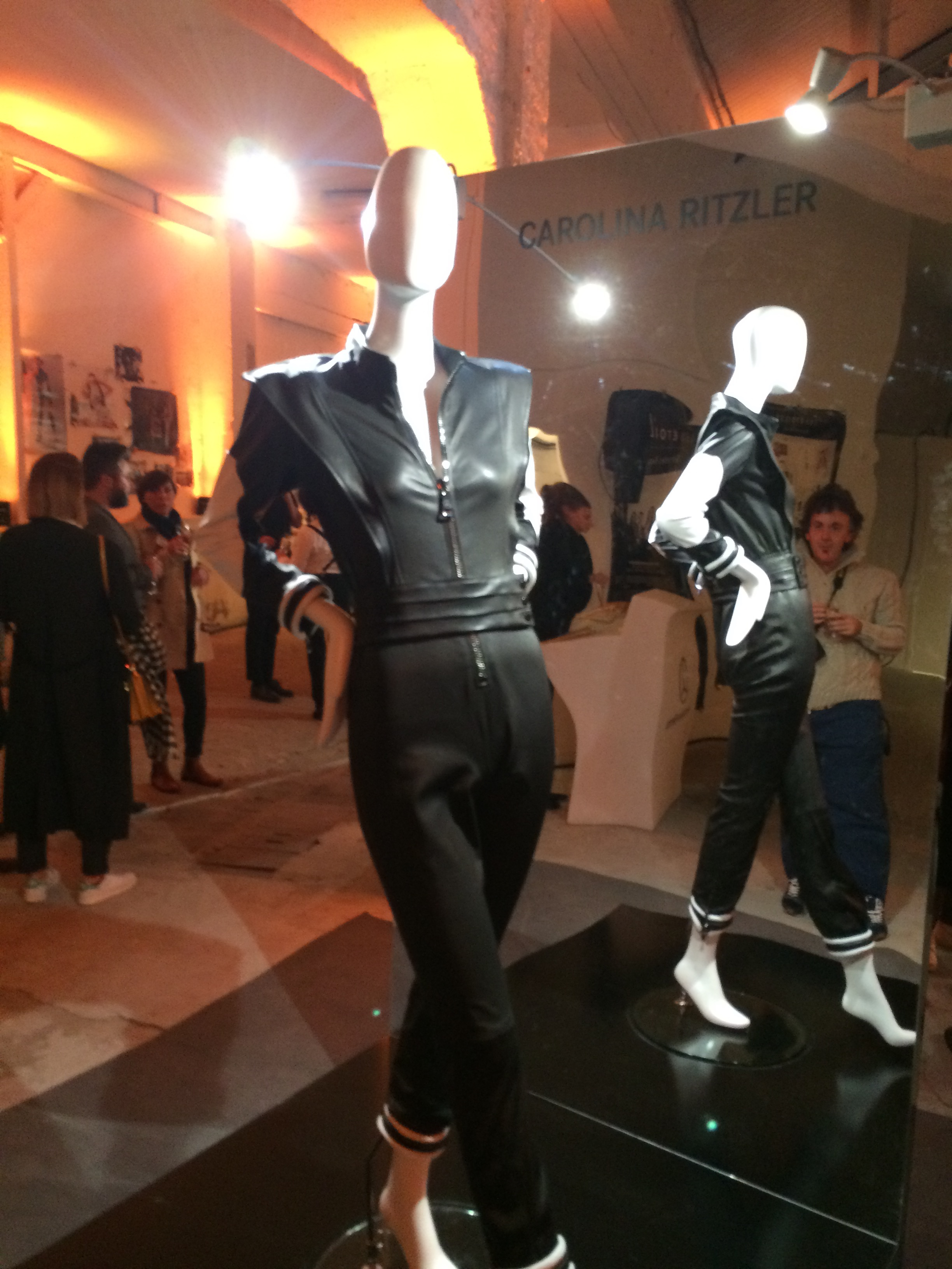 Carolina Ritzler catsuit on display at Les Etoiles, Mercedez-Benz & Alexis Mabille cocktail party
