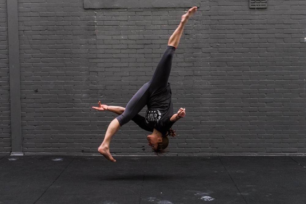 Garage Gym Girl in action