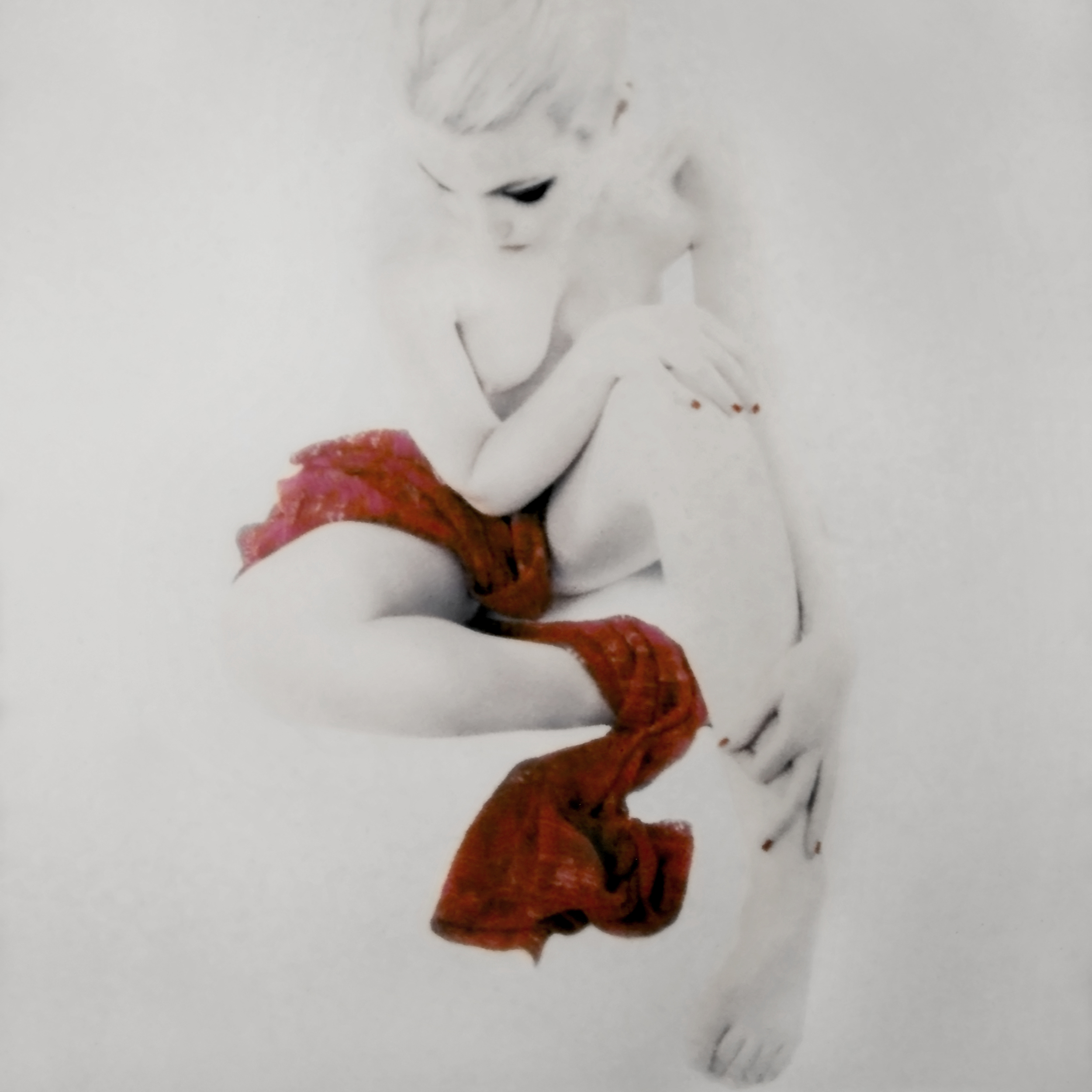 Seated Nude with Red Scarf