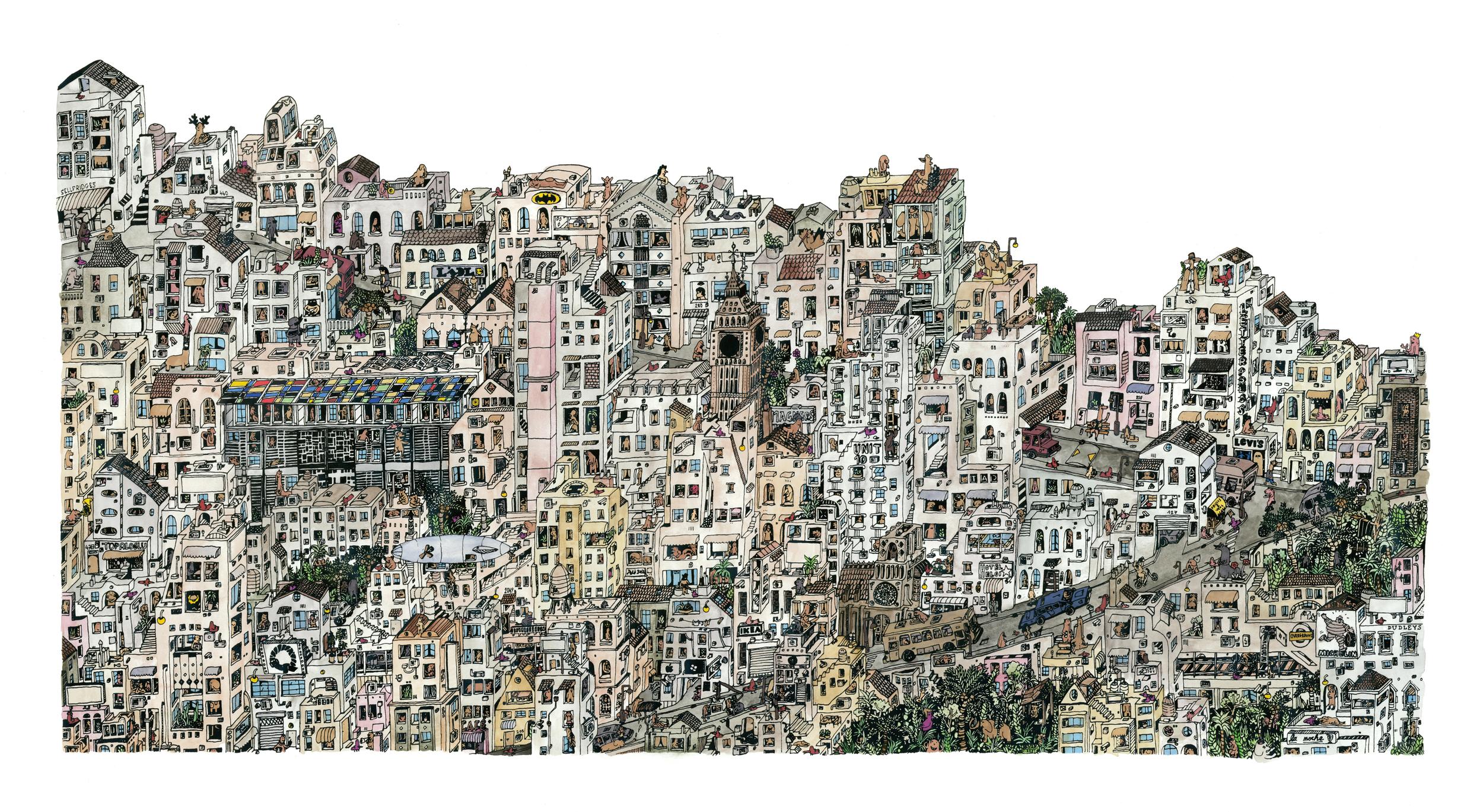 """""""Colourful London Favela"""""""