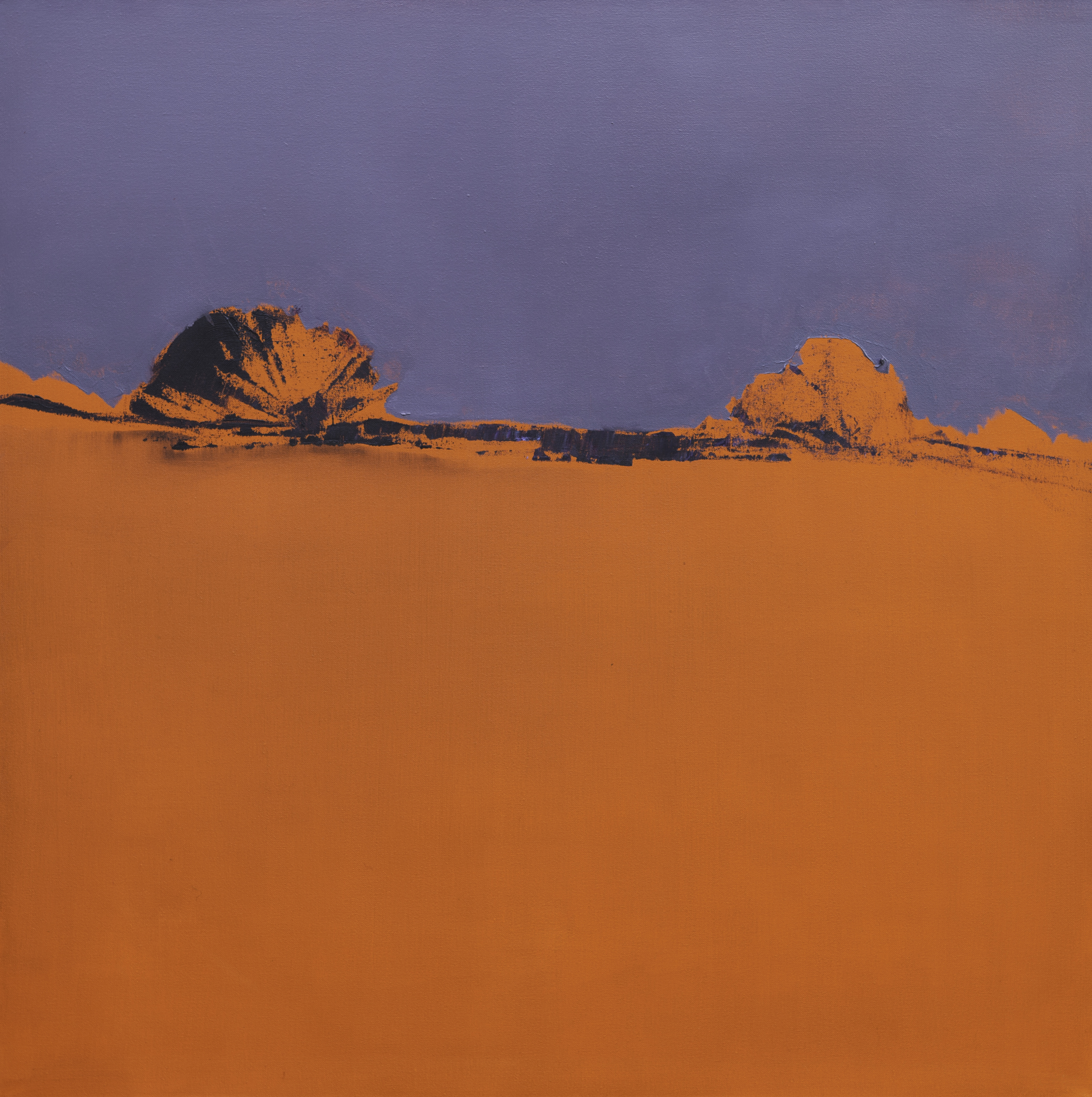 Orange Purple Twilight  - 2014 - Oil on canvas - 35 x 35 inches / 90 x 90 cm
