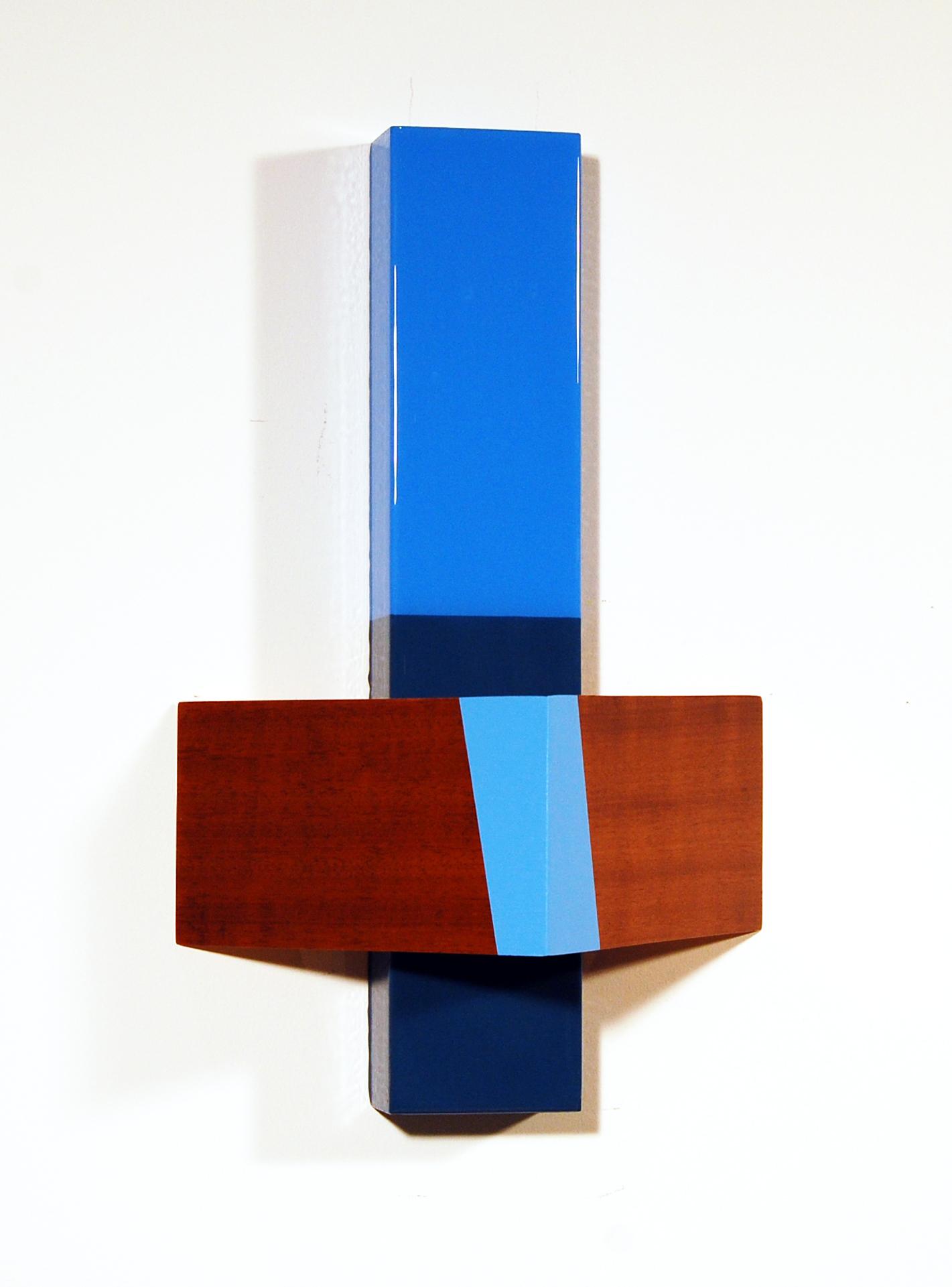 "Puzzle #89  Acrylic, MDF, Brazilian cherry – Unique - 2014 16"" x 20"" x 6"" / 41 x 51 x 15 cm"