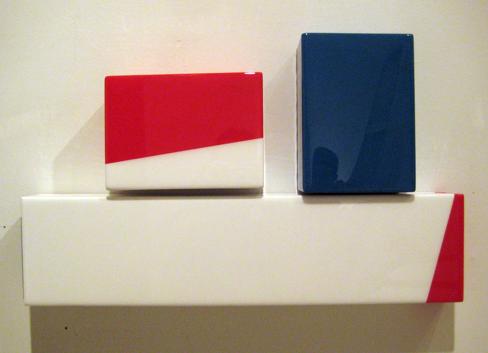 "Puzzle #2, In honour of France  –  Acrylic, MDF, UV resin 12"" x 24"" x 3"" / 30 x 61 x 8 cm"
