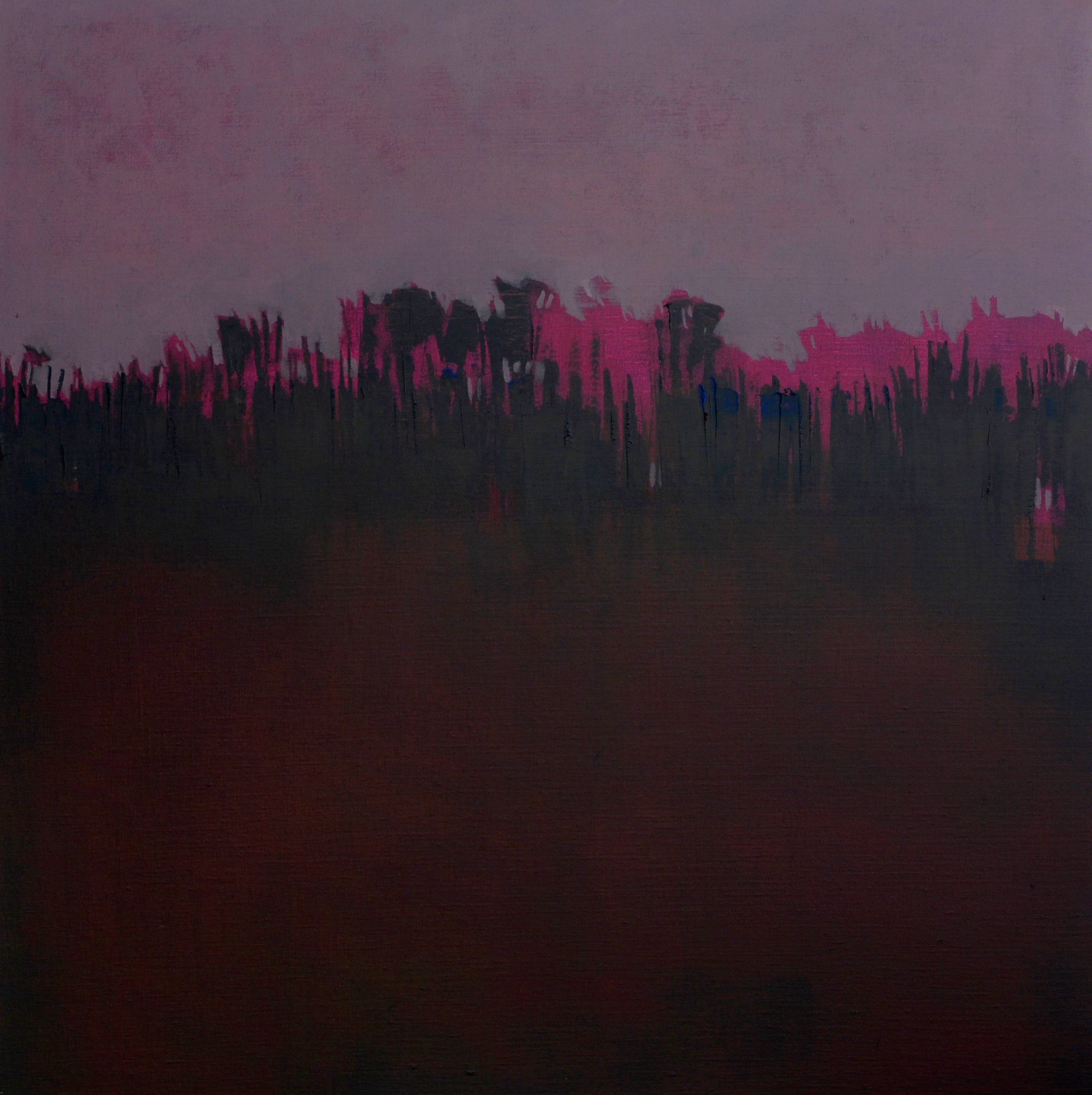 Morado Atardecer  - 2014 - Oil on canvas - 20 x 20 inches / 50 x 50 cm