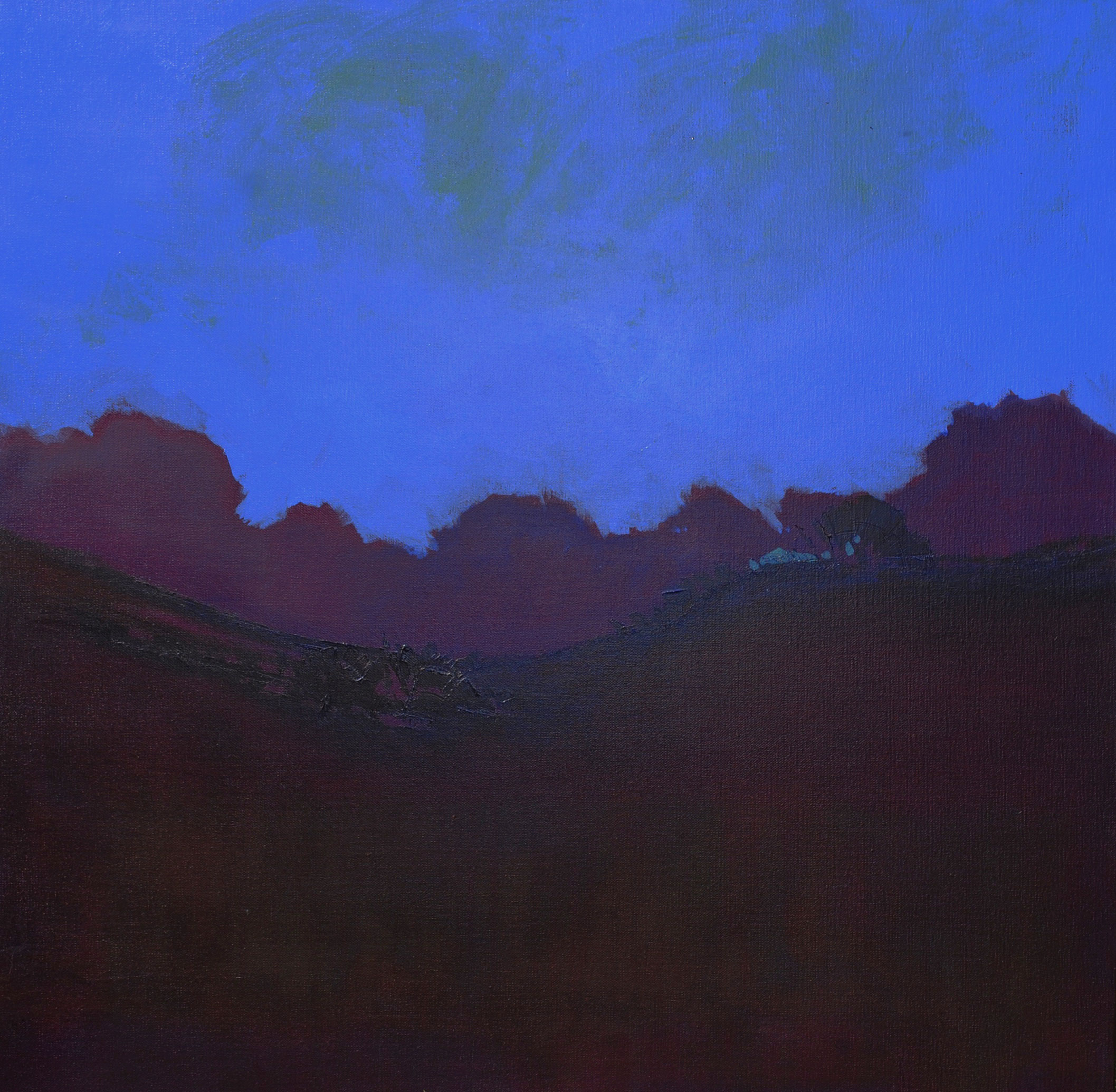 Before Sunrise  – Oil on canvas – 31 x 31 inches / 80 x 80 cm