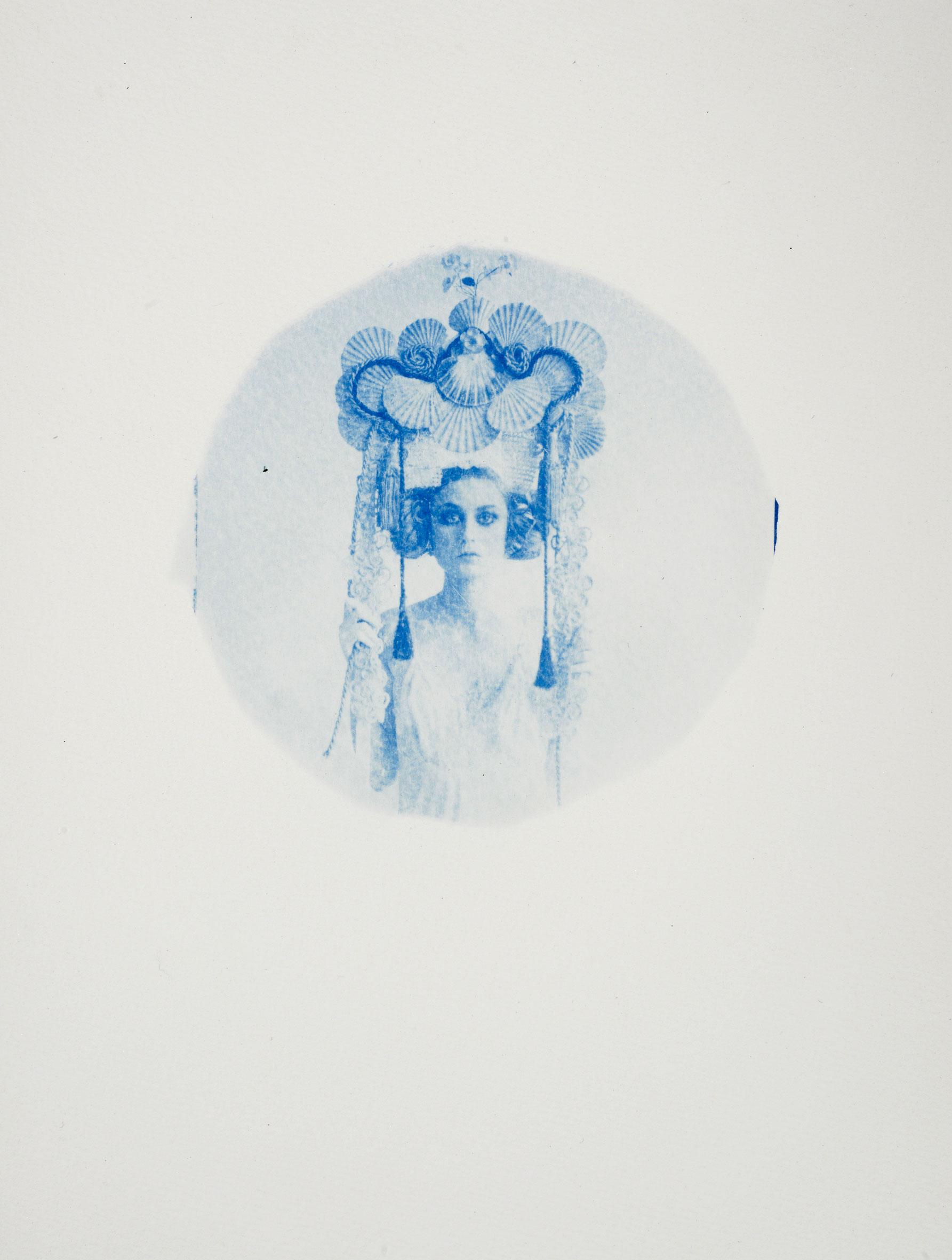 Ondine  - 2015 - Original, Cyanotype on paper, framed Artwork: 11 x 9 inches / 29 x 23 cm - SOLD