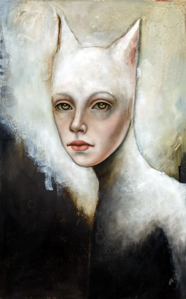 "Bast  Oil and enamel on canvas - 2015 30"" x 48"" / 76 x 122 cm"